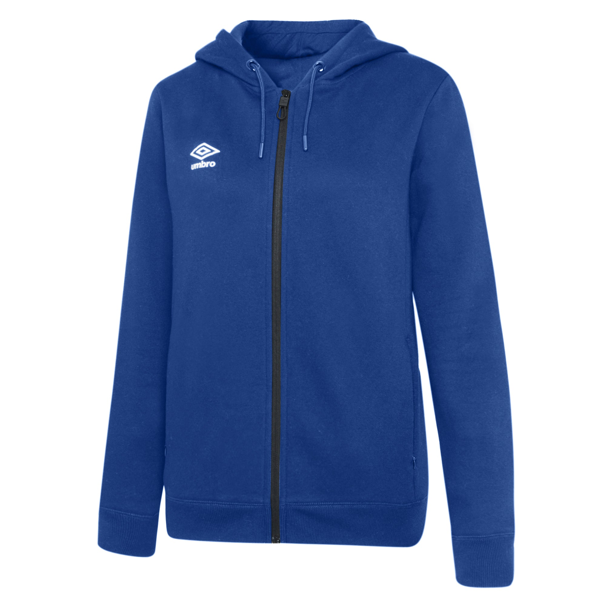 Umbro Club Leisure Women's Zipped Hoody - TW Royal/White