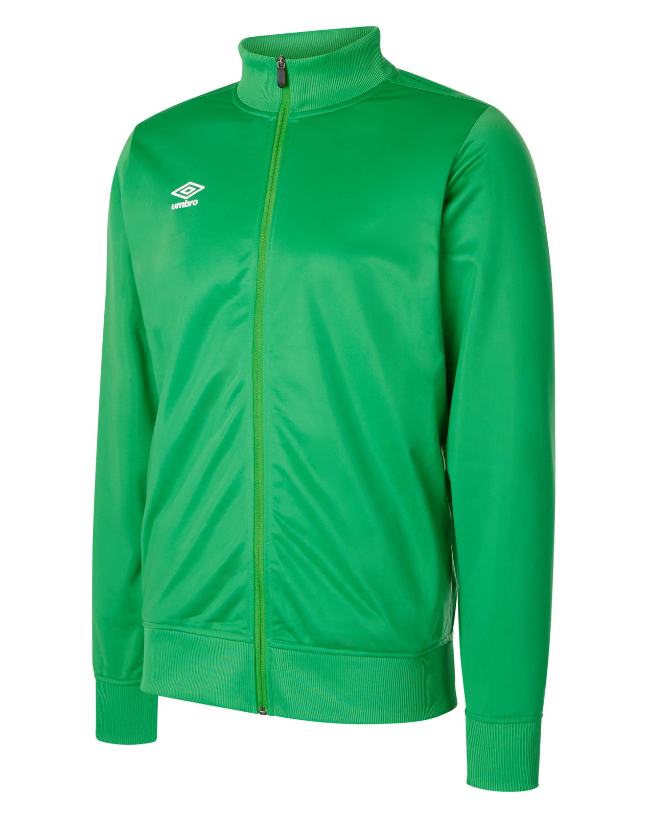 TW Emerald Umbro Club Essential Poly Jacket with full zip and white Umbro logo on the right chest