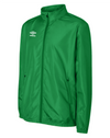 TW Emerald Umbro Club Essential Light Rain Jacket with full zip and white Umbro logo on the right chest