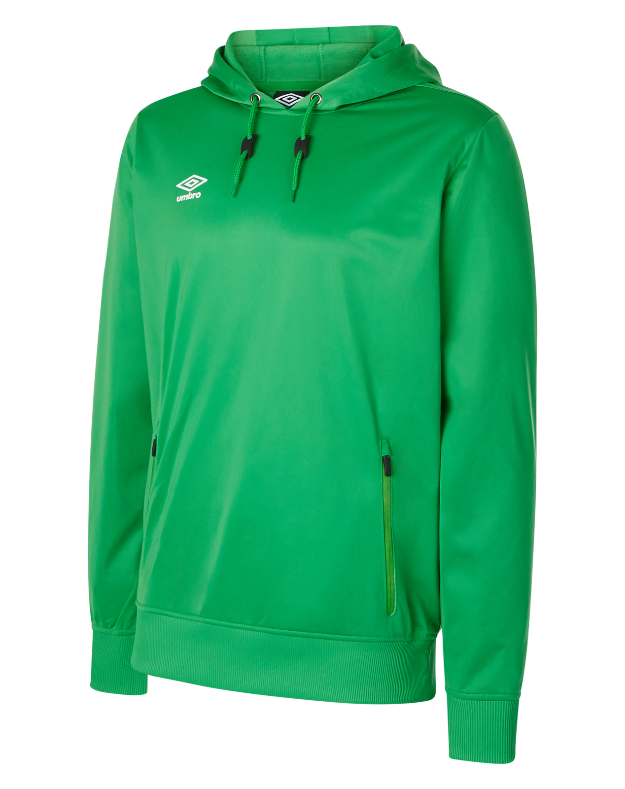 7f64d497 Umbro Club Essential Poly hood in TW Emerald green with white Umbro logo  print on the