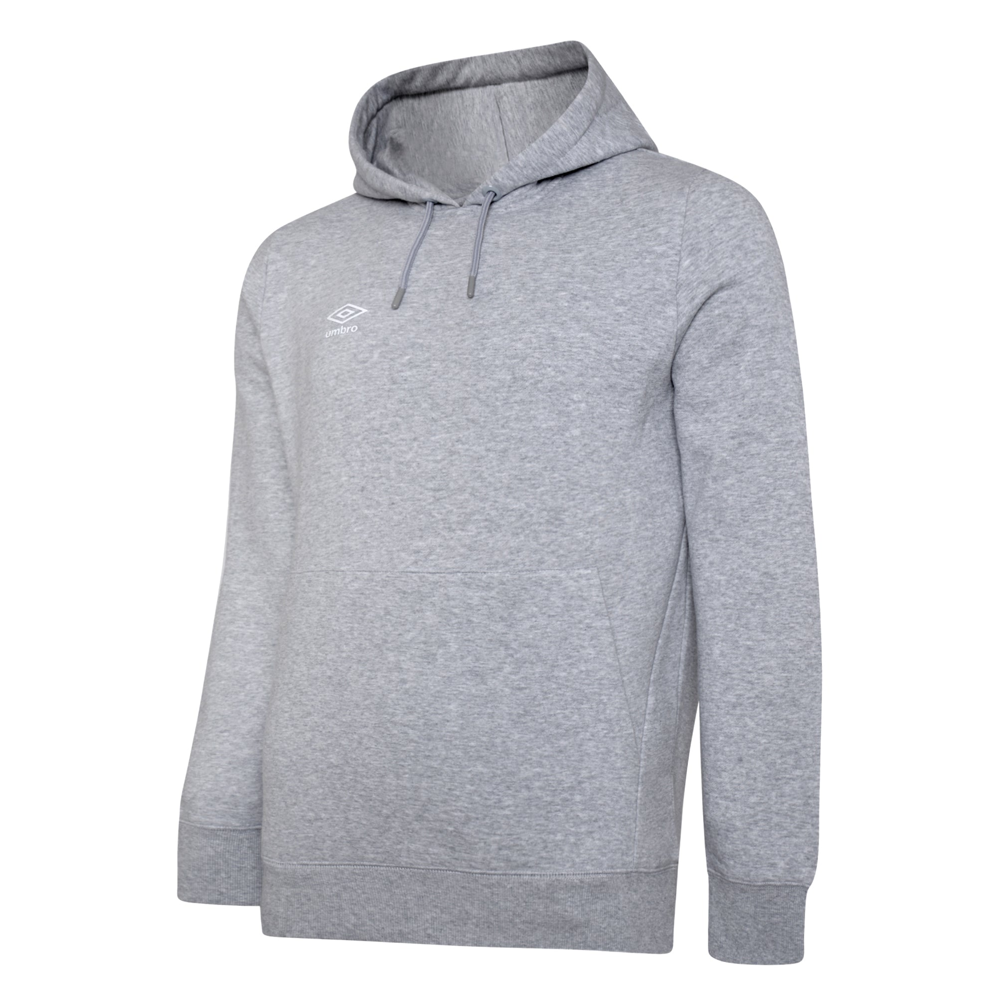 Umbro Club Leisure Hoody - Grey Marl/White