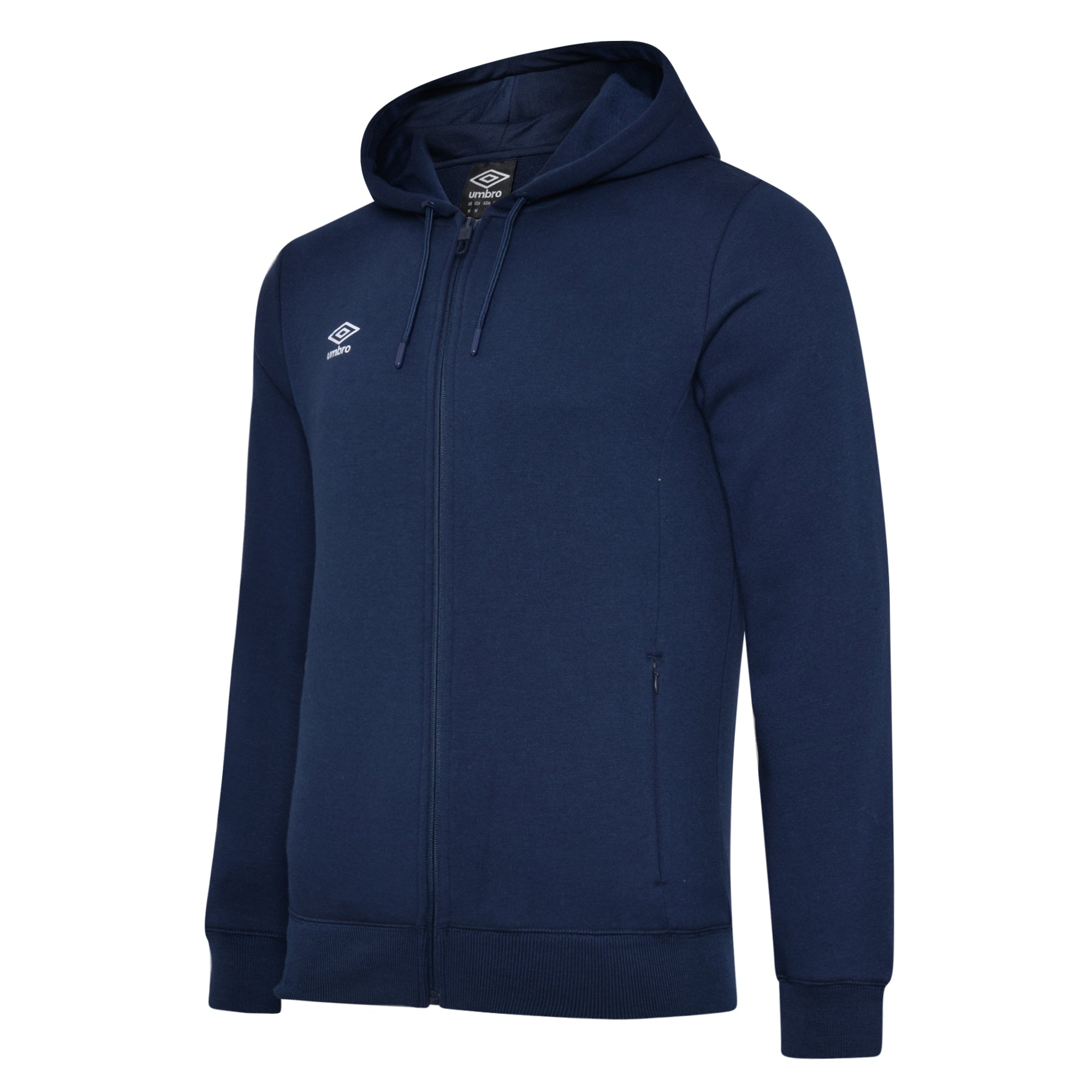 Umbro Club Leisure Zipped Hoody - TW Navy/White