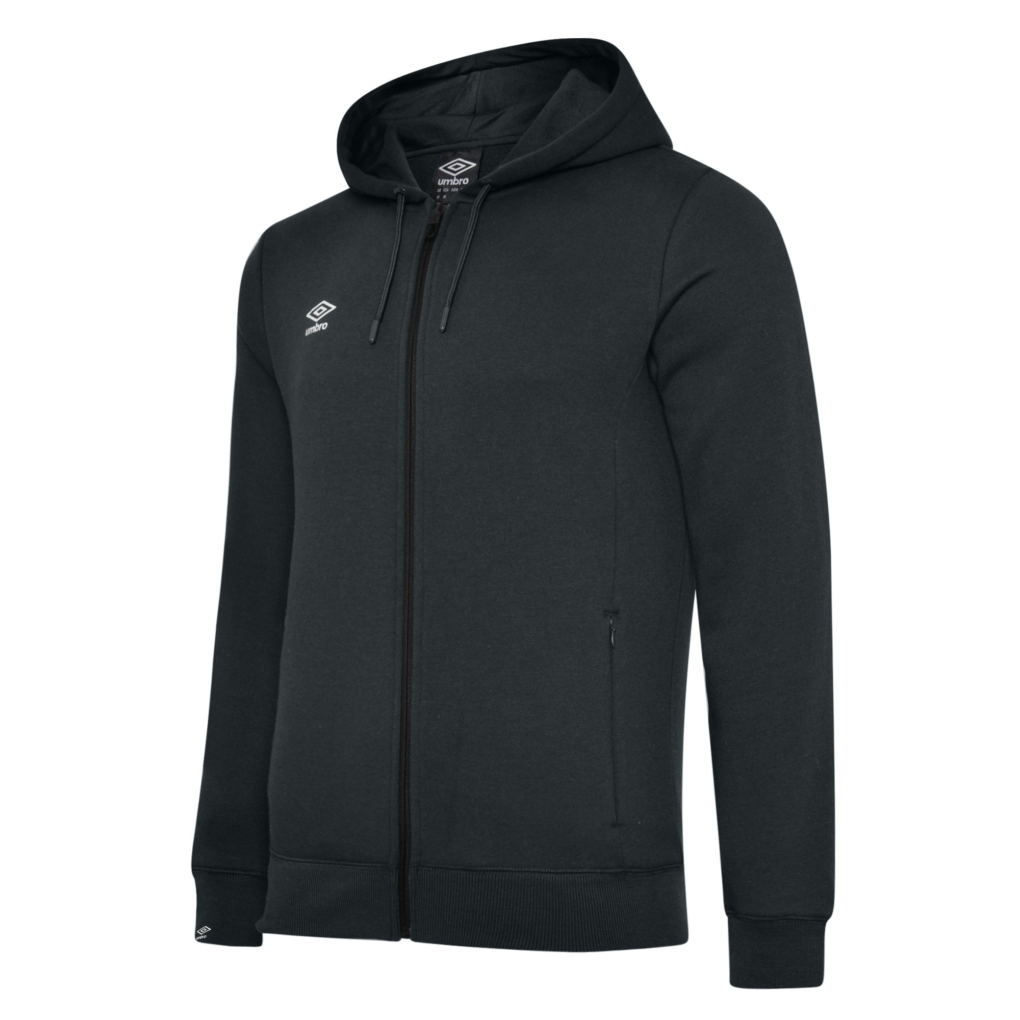 Umbro Club Leisure Zipped Hoody - Black/White