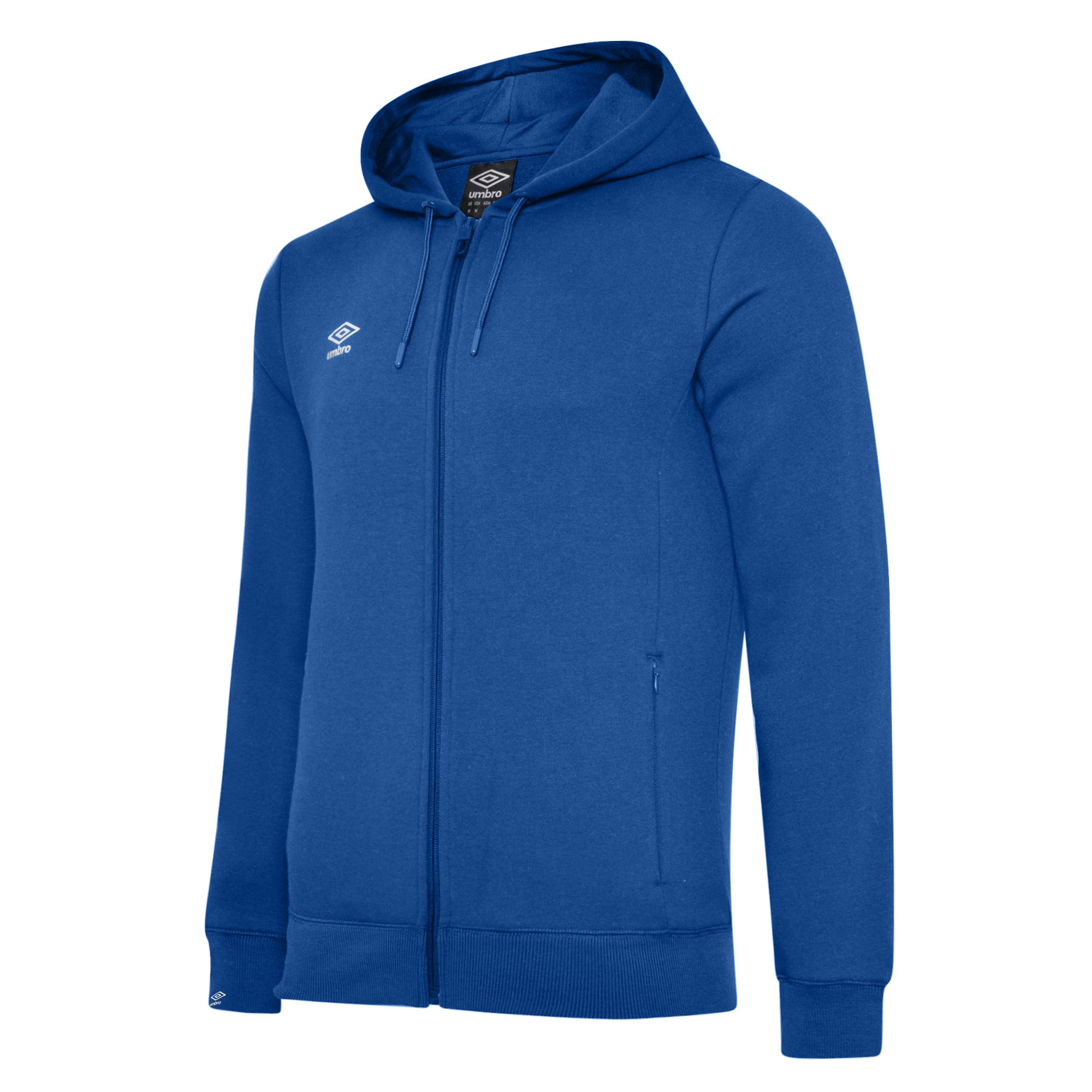 Umbro Club Leisure Zipped Hoody - TW Royal/White