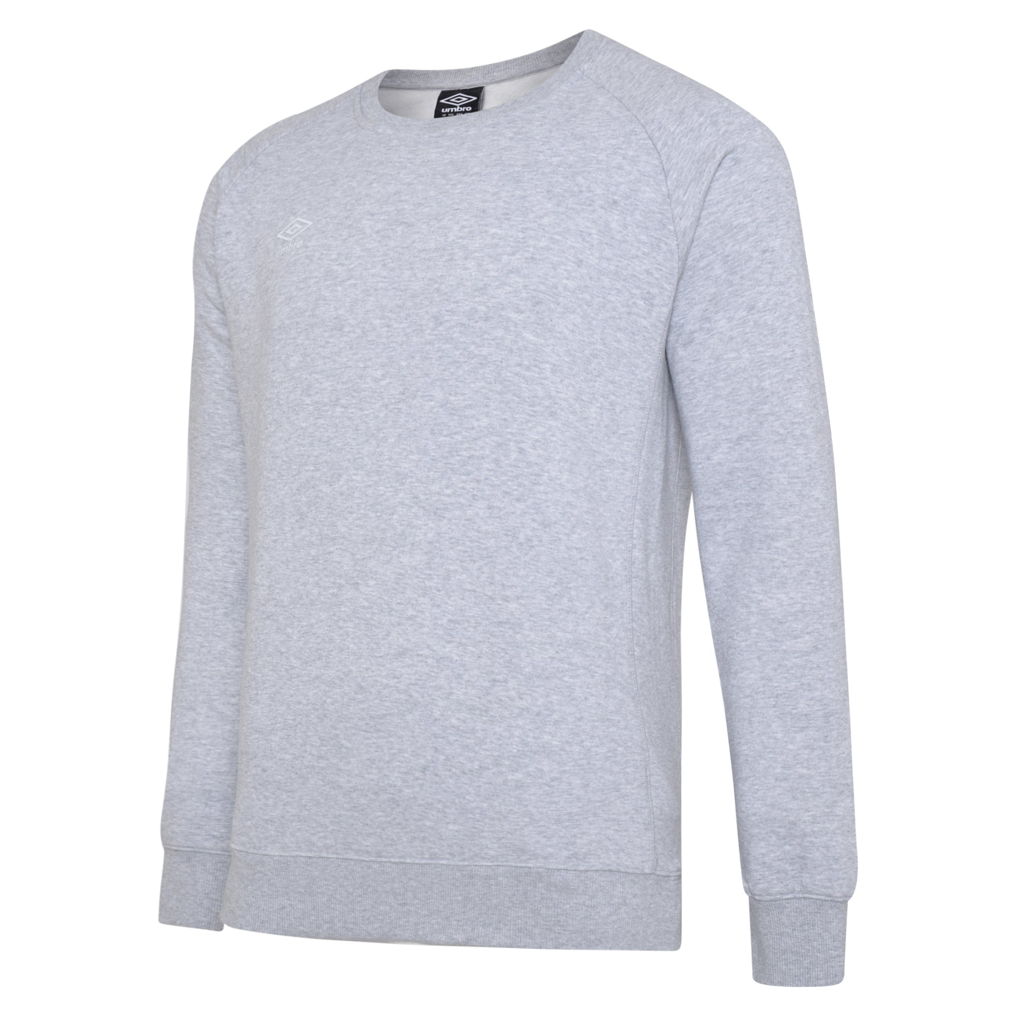 Umbro Club Leisure Sweat - Grey Marl/White