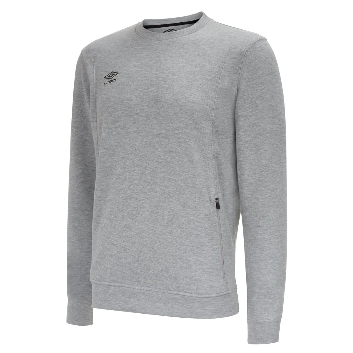 Umbro Pro Fleece Sweat in grey marl with black logo