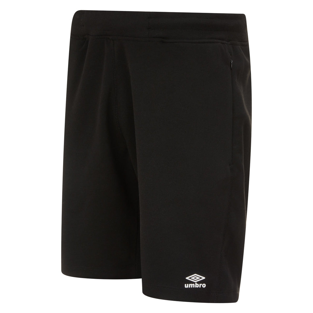 Umbro Pro Fleece short in black with white logo