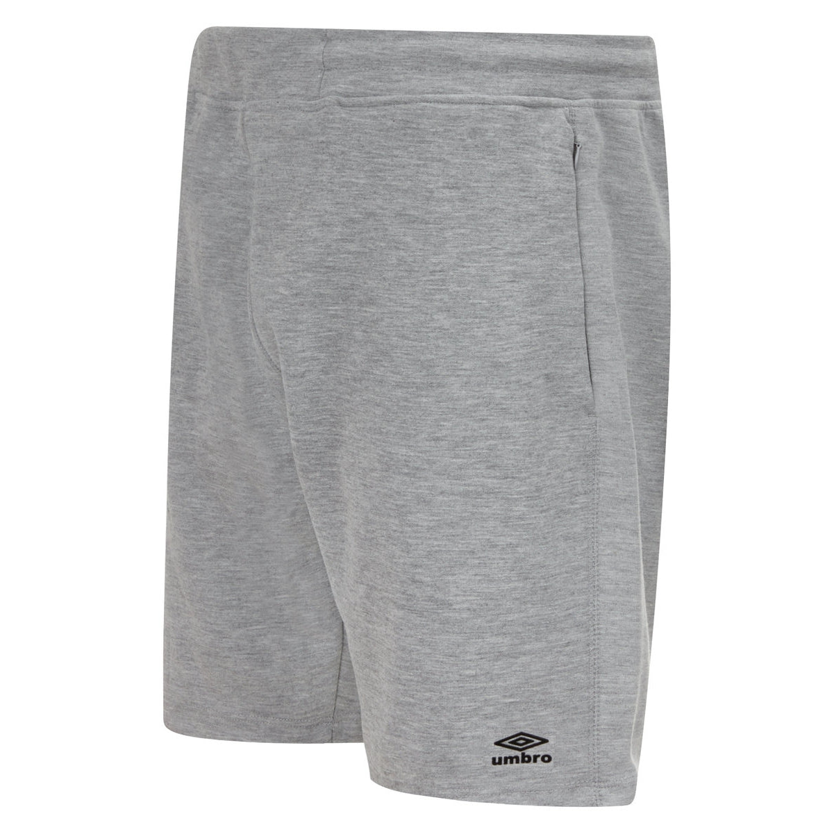 Umbro Pro Fleece short in grey marl with black logo