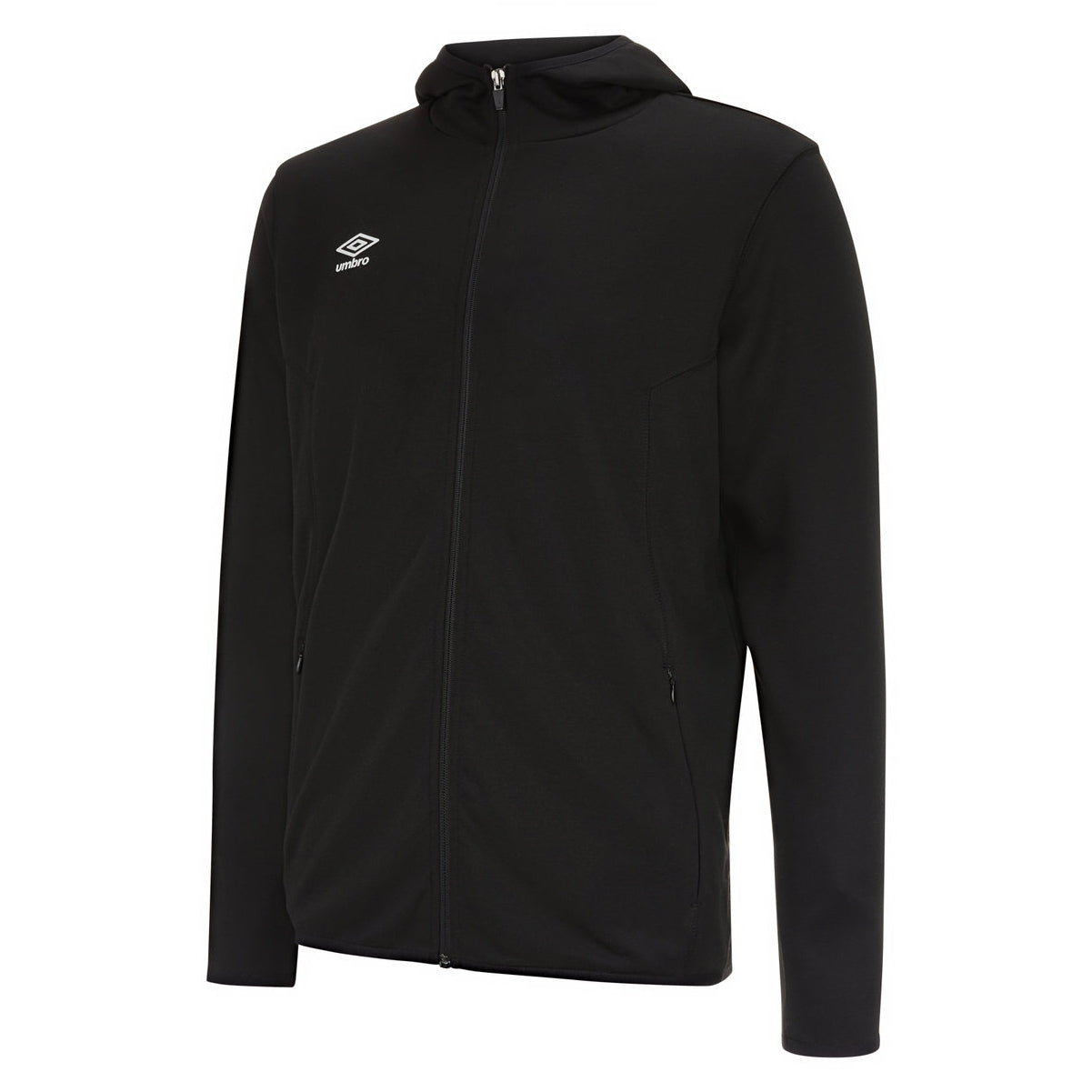 Umbro Pro Fleece Hoody in black with full zip