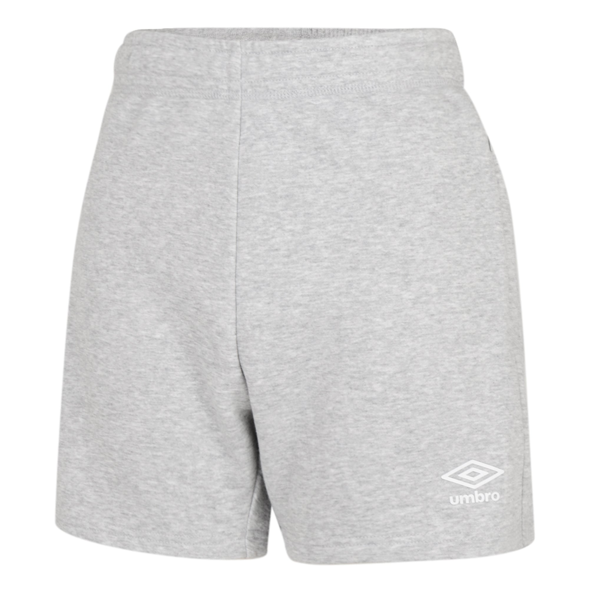 Umbro Club Leisure Women's Jog Shorts - Grey Marl/White