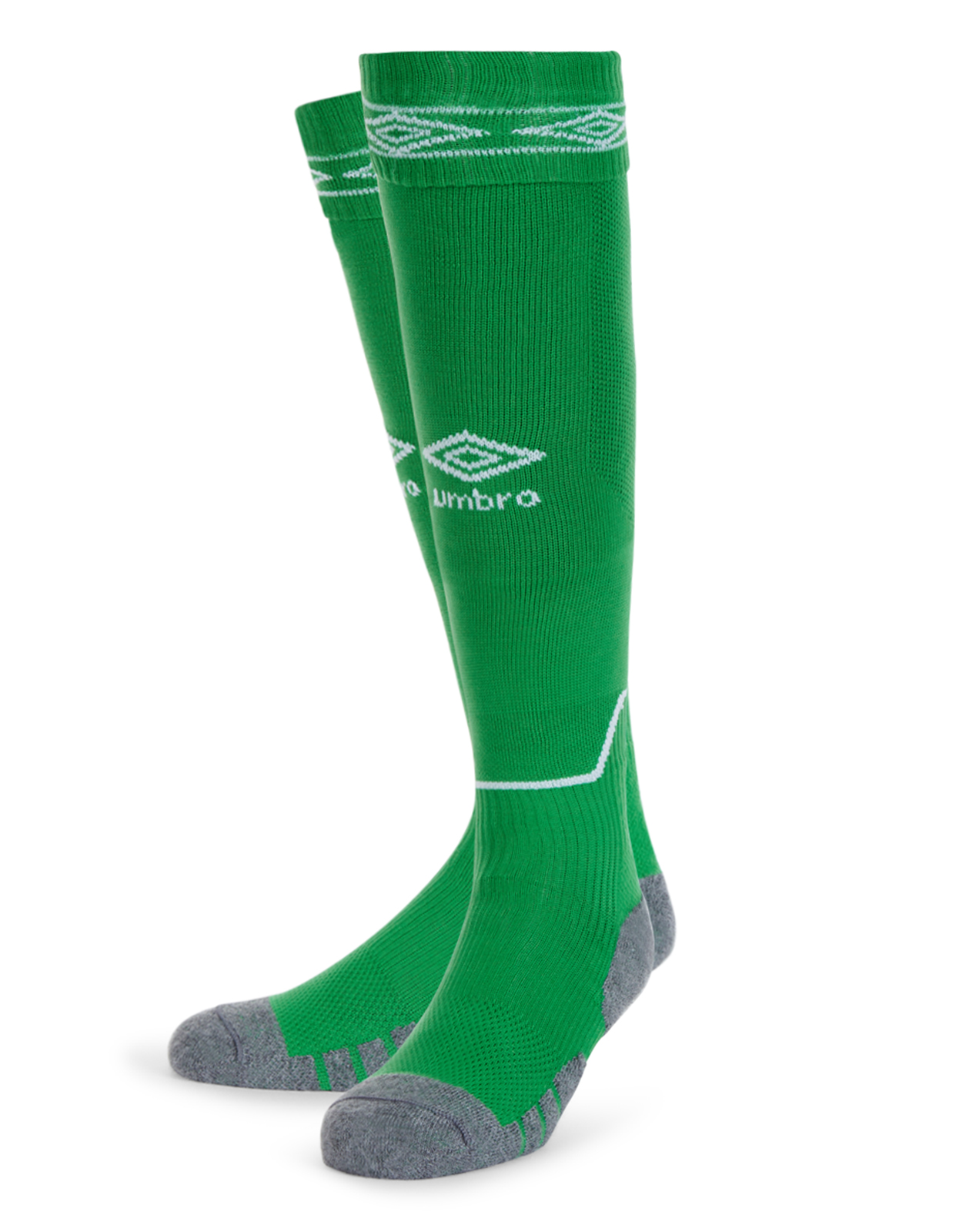 Umbro Diamond Top Socks in emerald with white Diamond turnover design