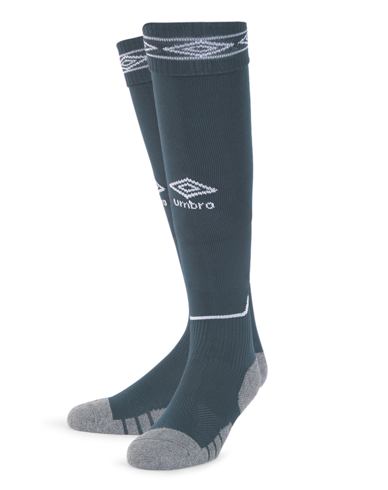 Umbro Diamond Top Socks in carbon with white Diamond turnover design