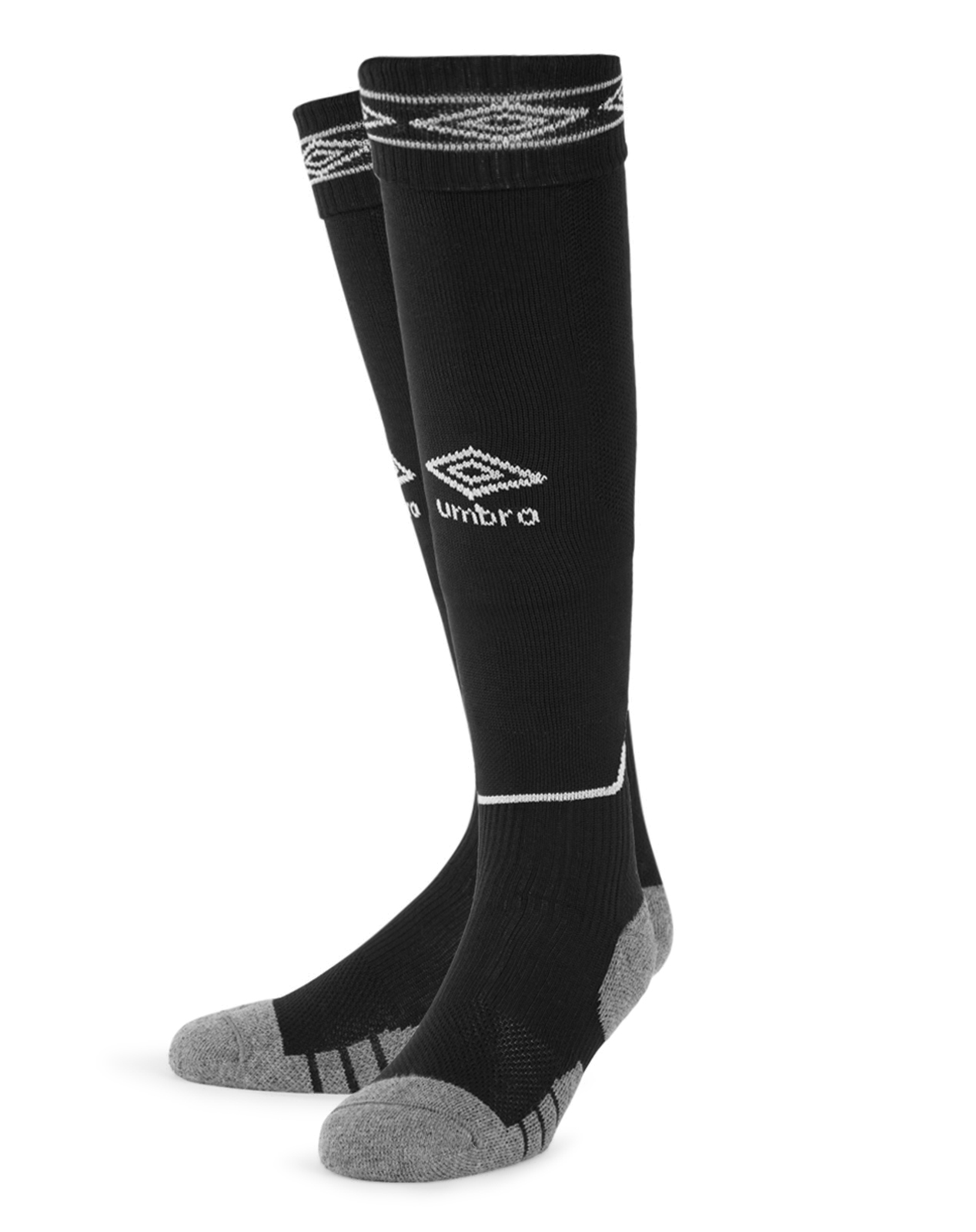 Umbro Diamond Top Socks - Black/White