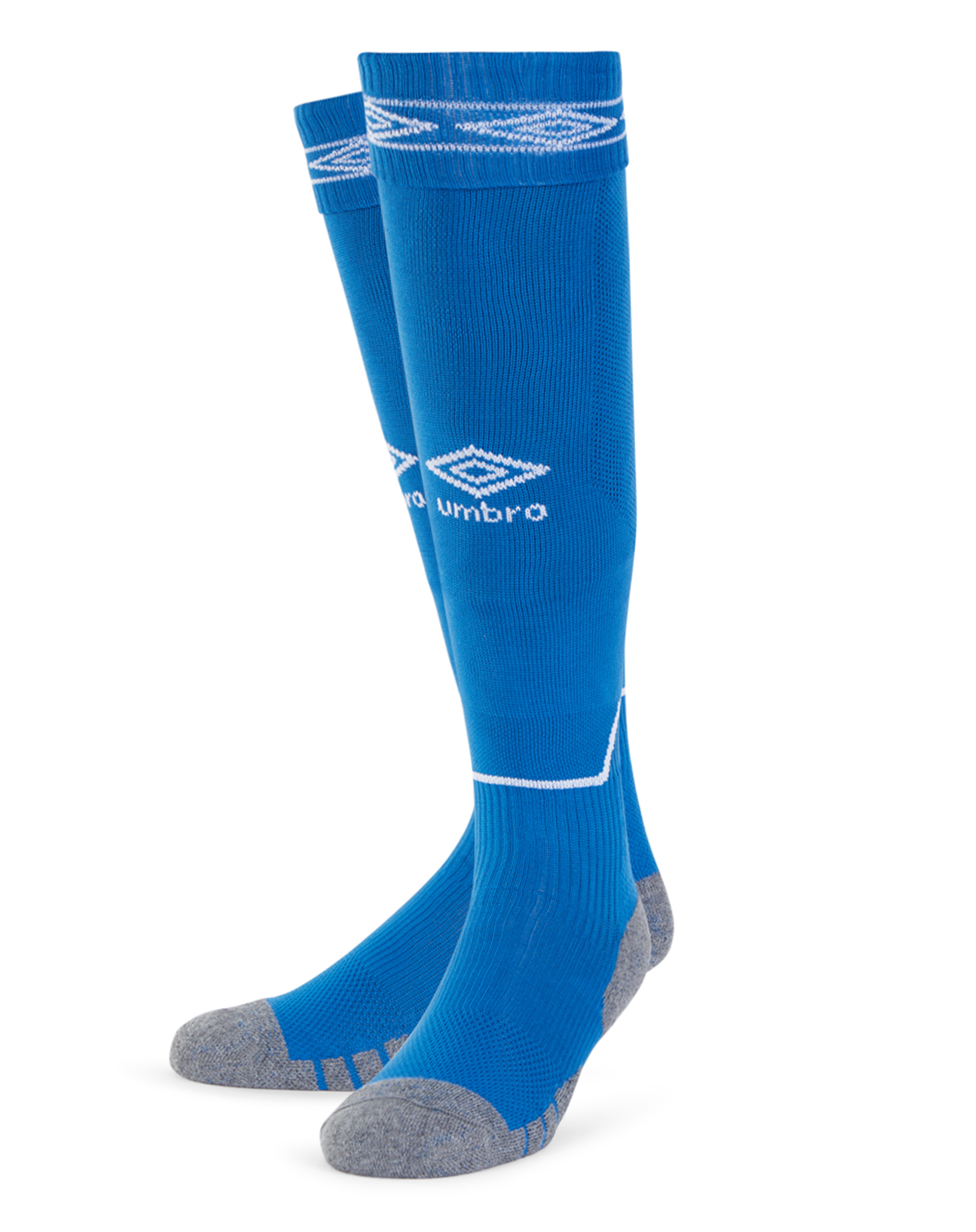 Umbro Diamond Top Socks in TW royal blue with white Diamond turnover design