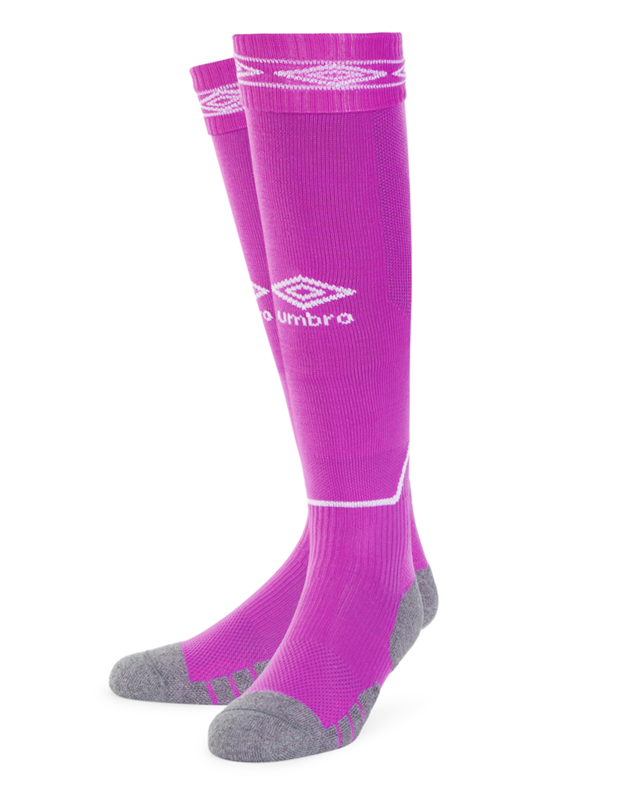 Umbro Diamond Top Socks in purple cactus with white Diamond turnover design