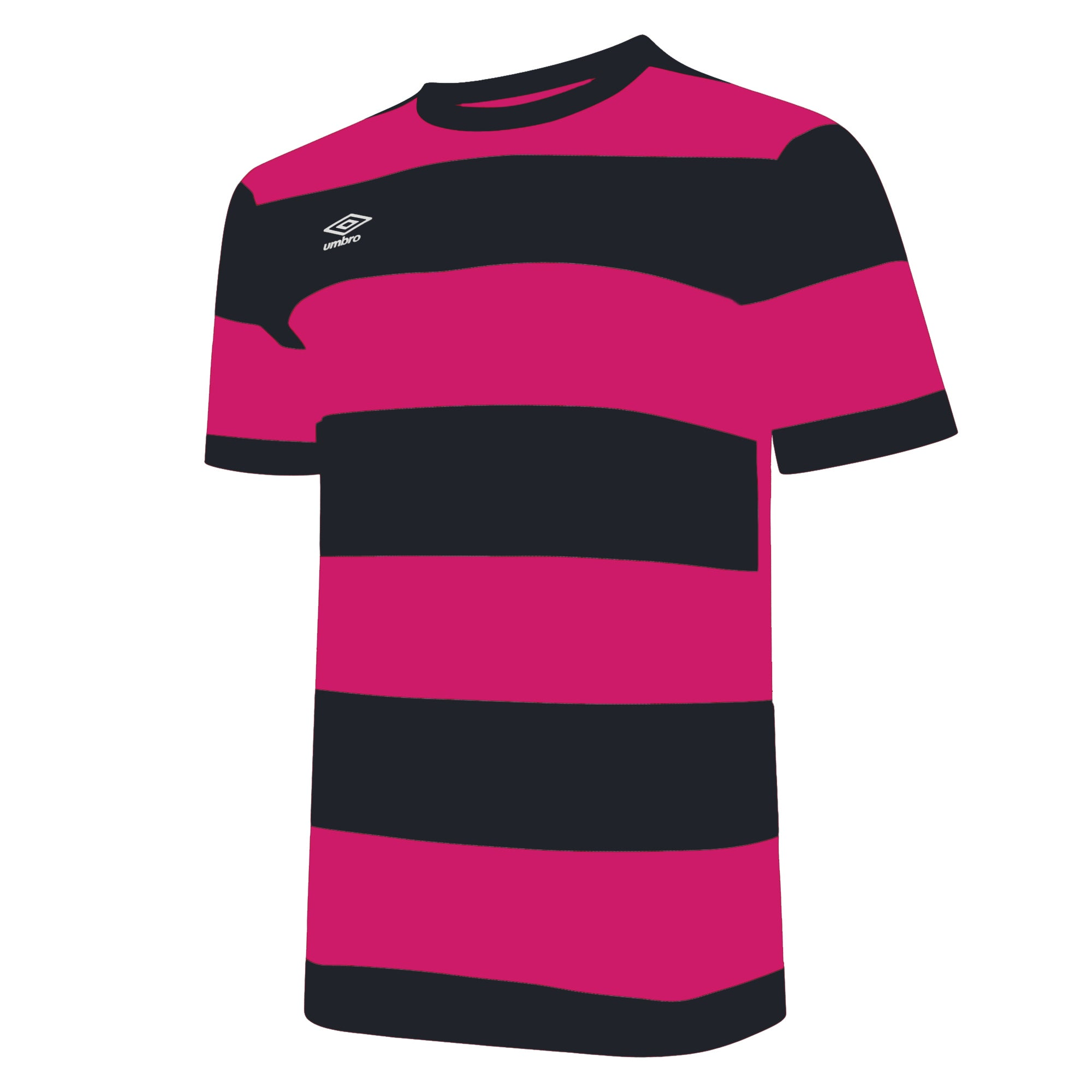 Umbro Triumph Jersey SS - Beetroot Purple/Black