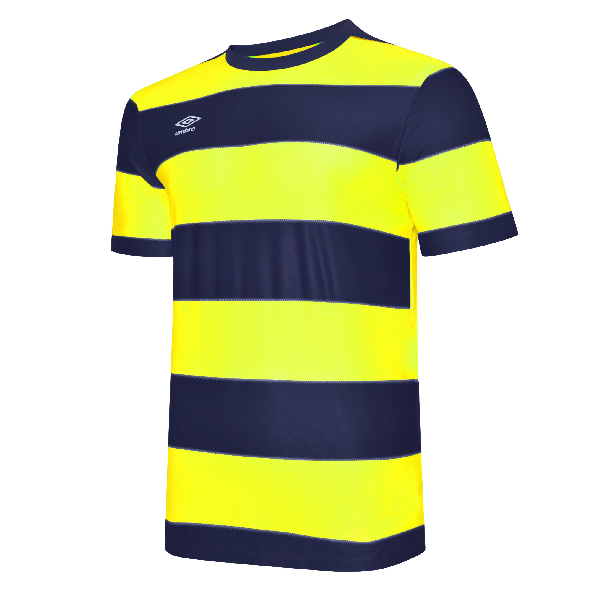 Umbro Triumph Jersey SS - TW Navy/Safety Yellow