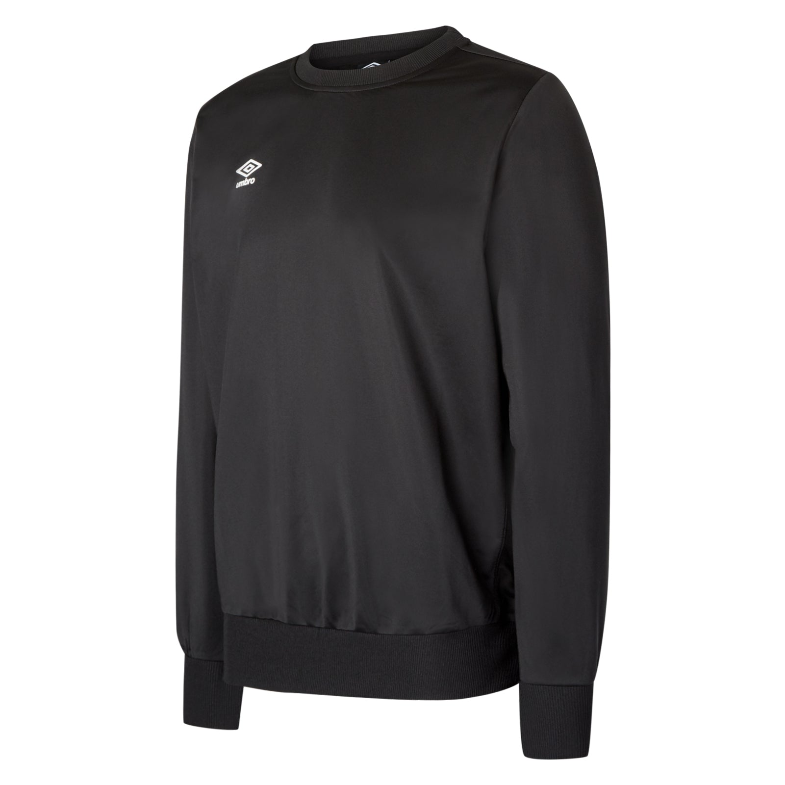 Umbro club Essential poly sweat in black with white Diamond logo
