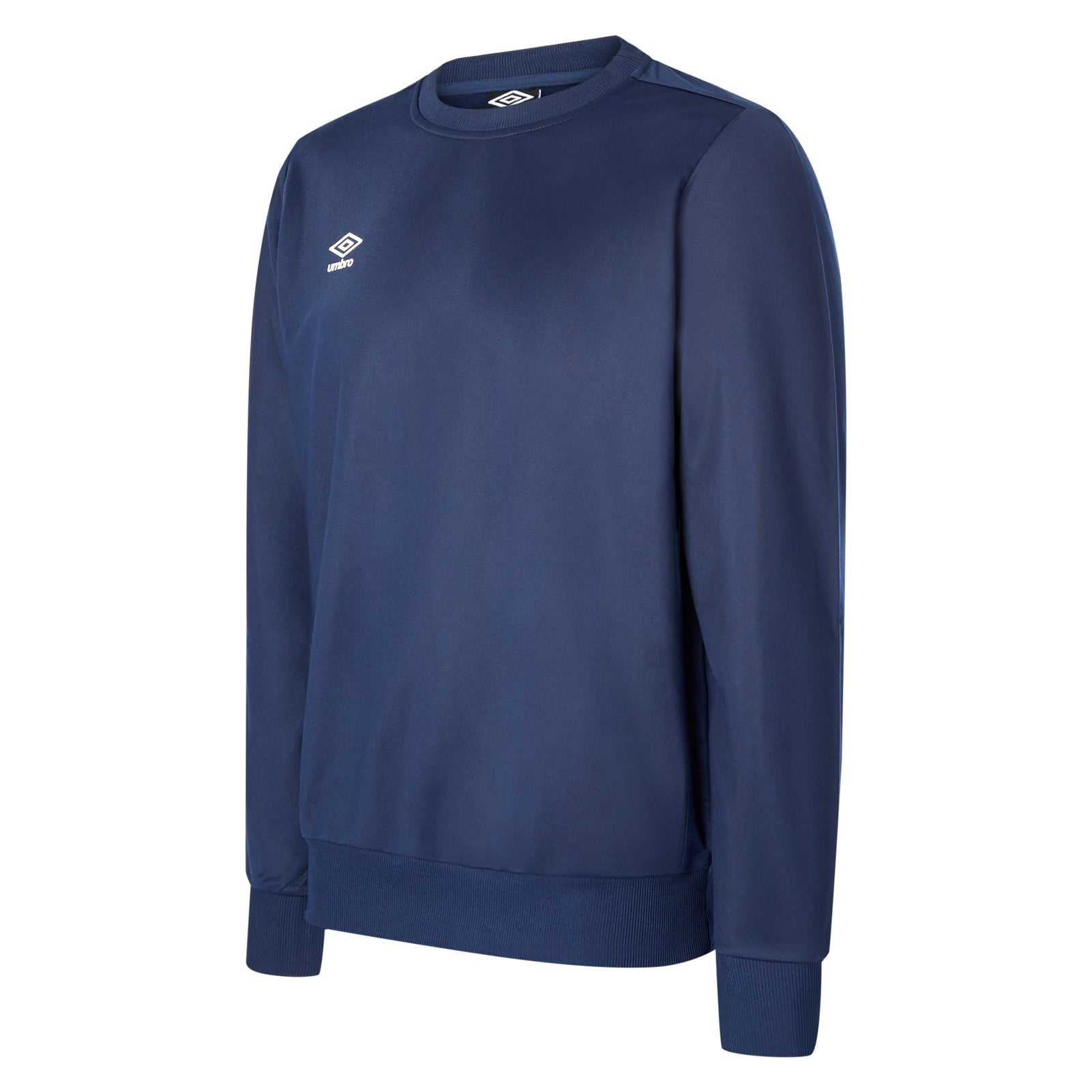 Umbro club Essential poly sweat in dark navy with white Diamond logo