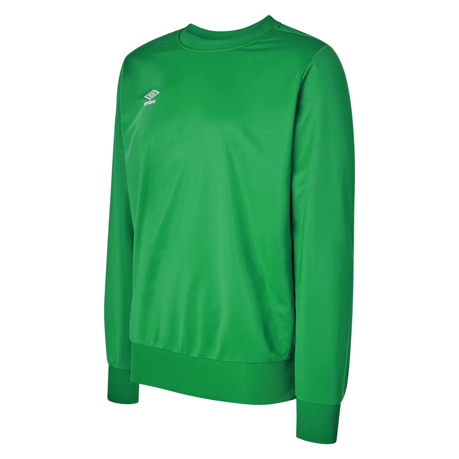 Umbro club Essential poly sweat in emerald green with white Diamond logo