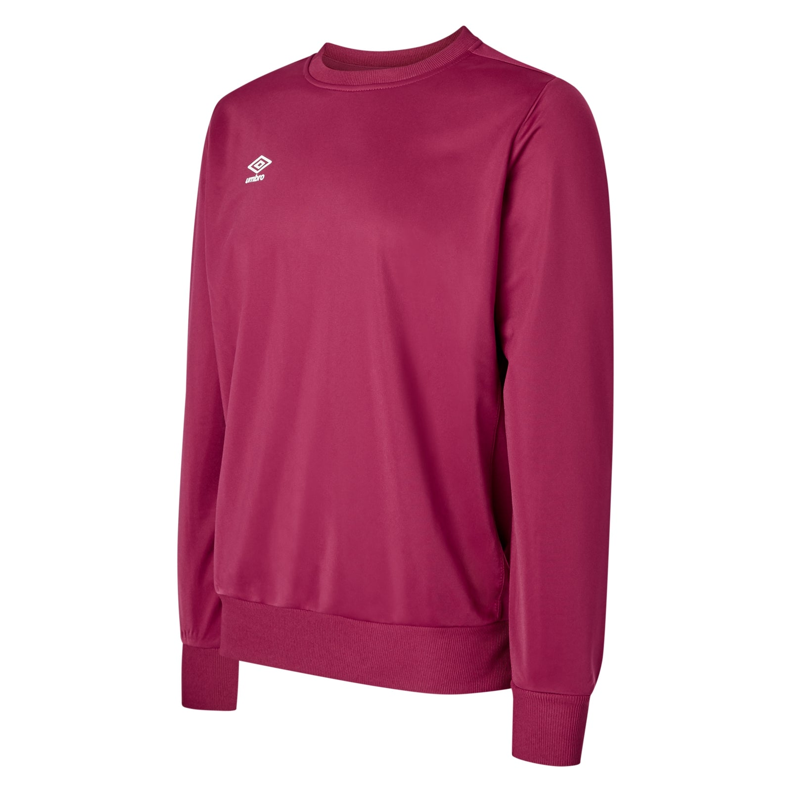 Umbro club Essential poly sweat in new claret with white Diamond logo