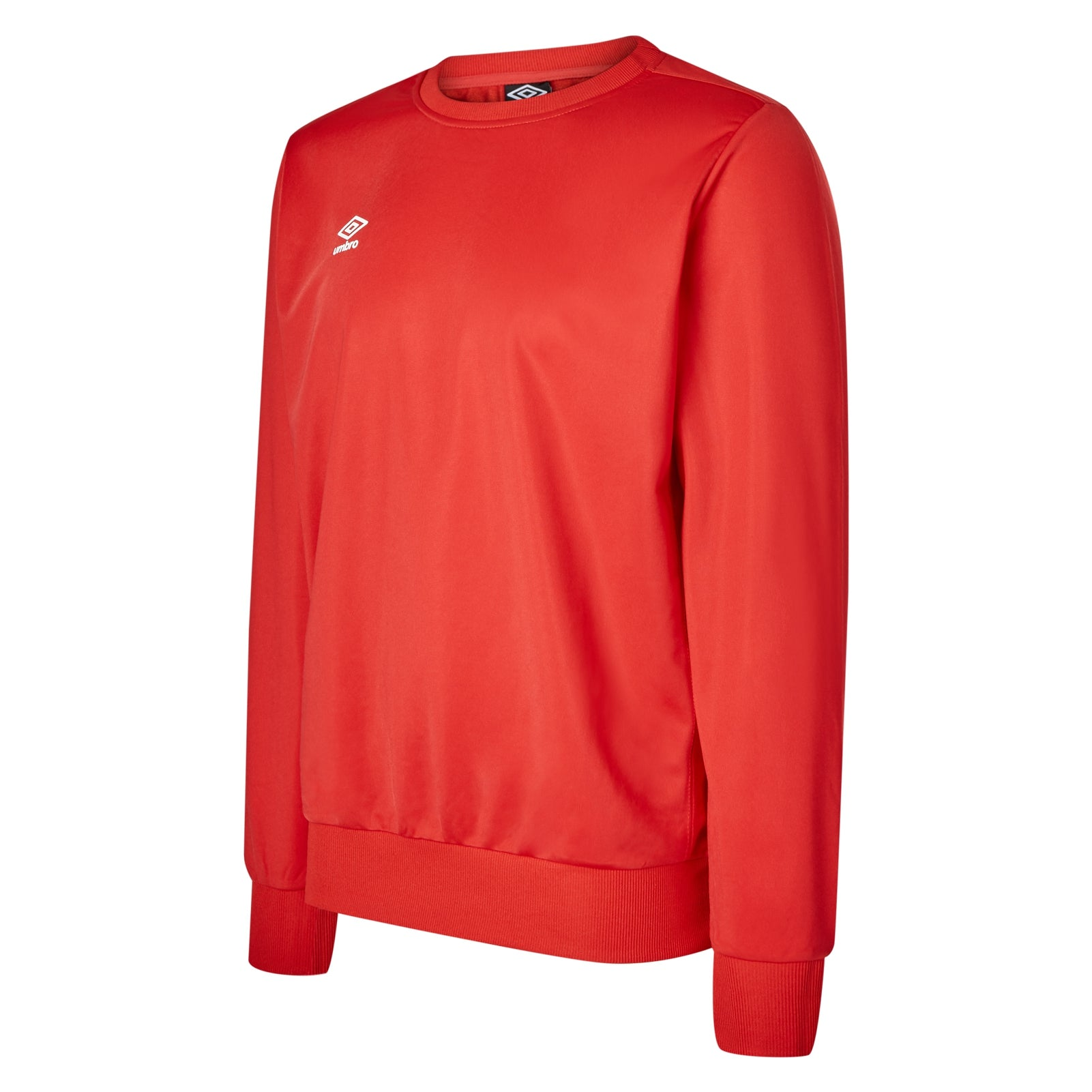 Umbro club Essential poly sweat in vermillion with white Diamond logo