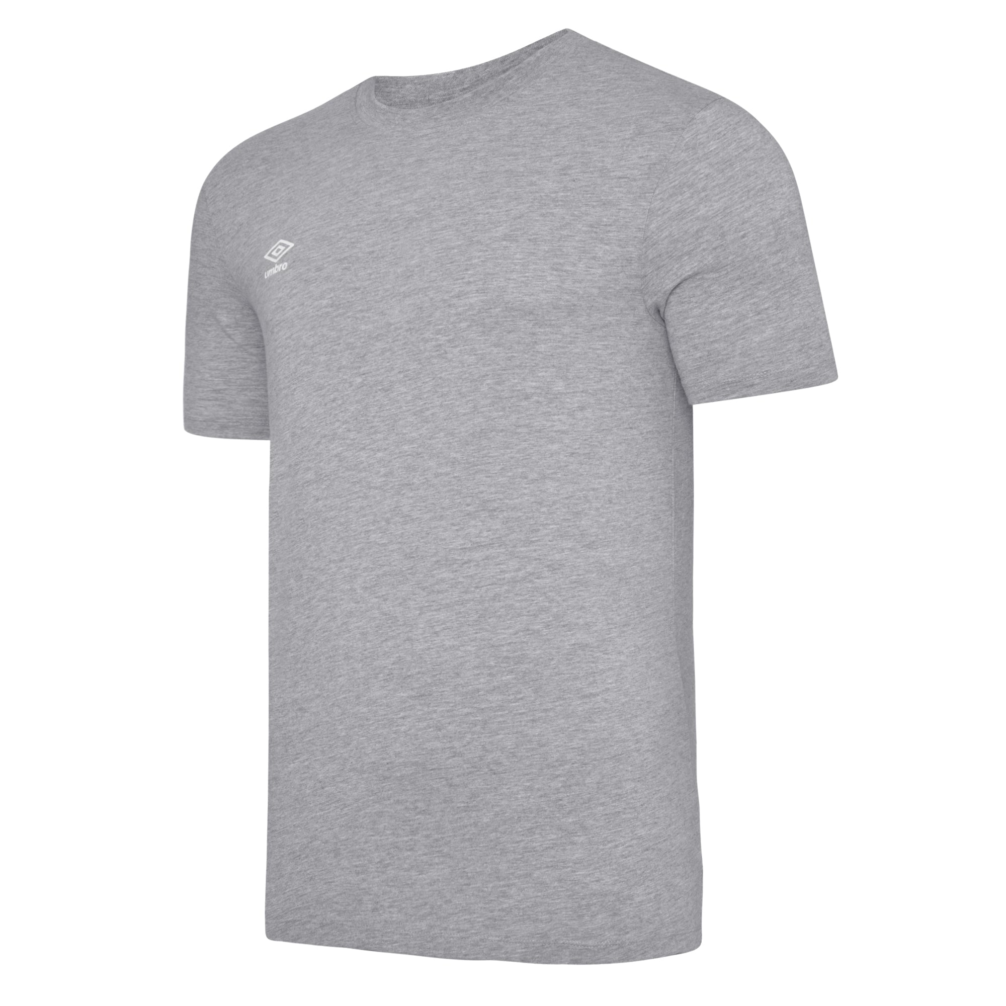 Umbro Club Leisure Crew Tee - Grey Marl/White