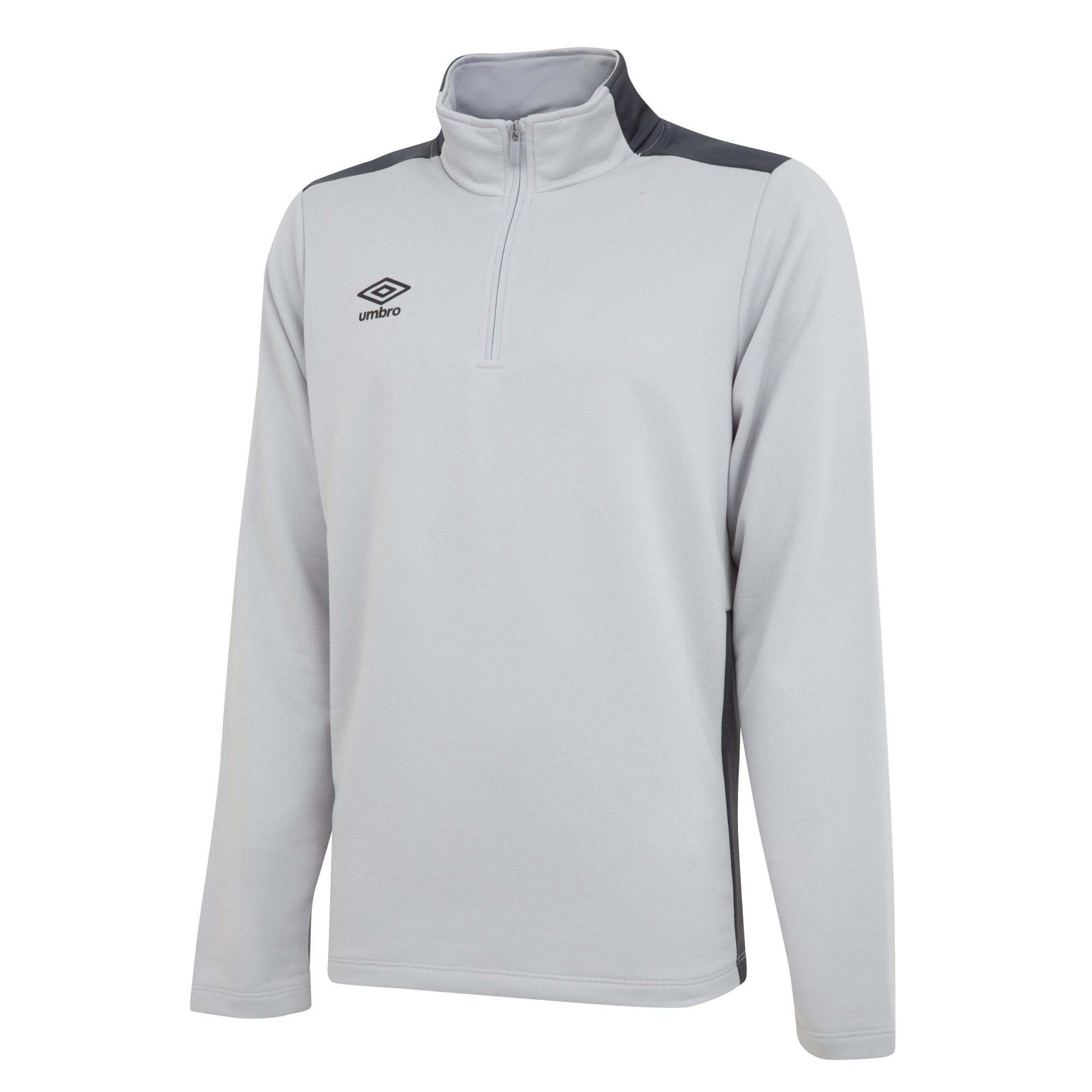umbro 1/2 zip top in high rise and carbon.