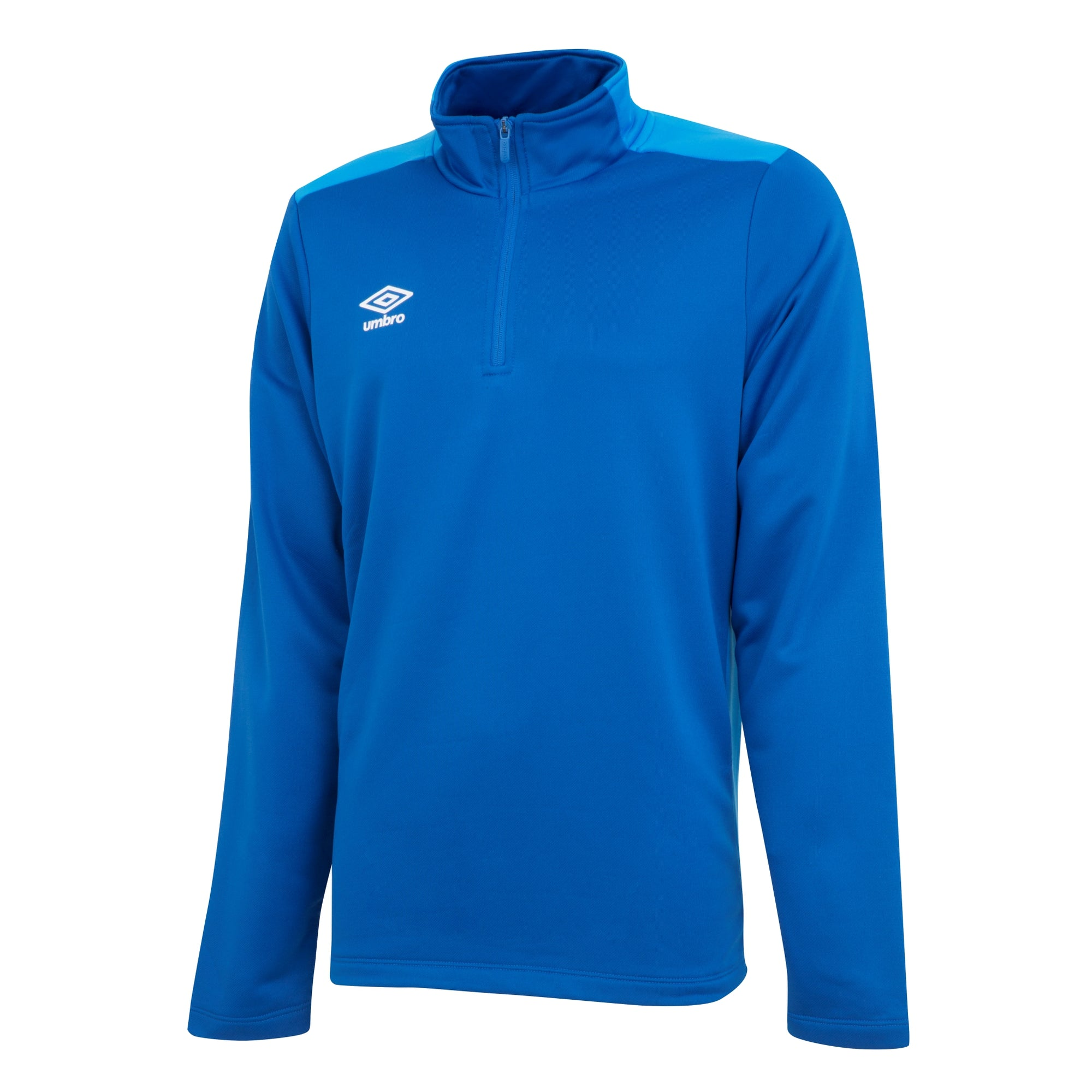 Umbro 1/2 zip top in French royal/TW royal.