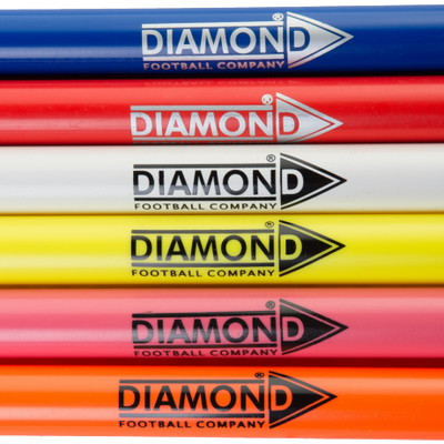 Diamond boundary poles in various colours