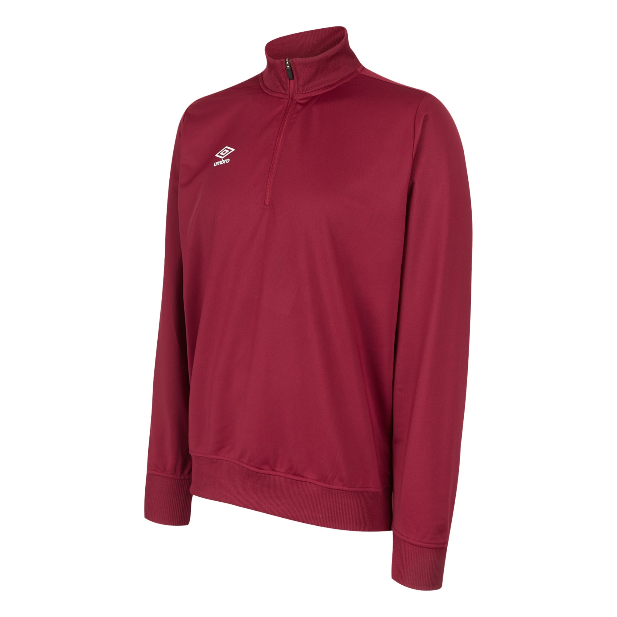 Umbro Club Essential Half Zip Sweat - New Claret