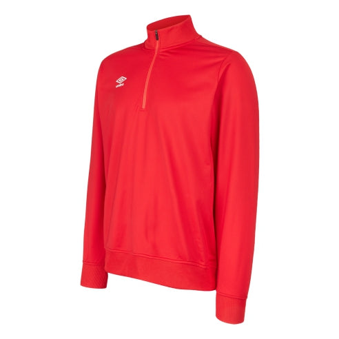 Umbro Club Essential Half Zip Sweat - Vermillion