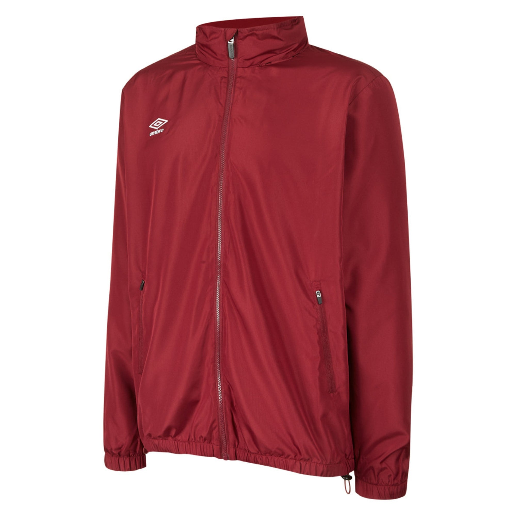 Umbro Club Essential Light Rain Jacket - New Claret