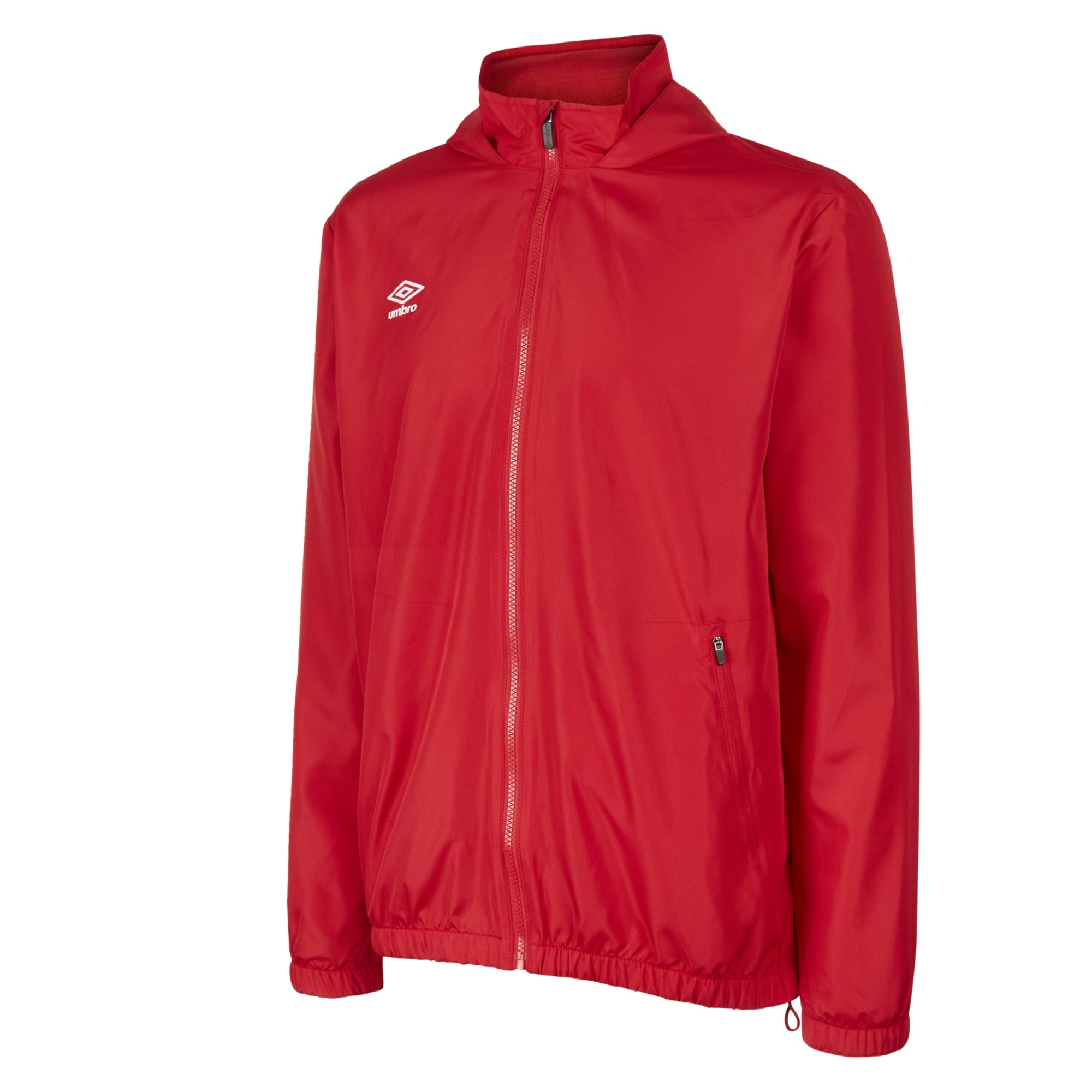 Umbro Club Essential Light Rain Jacket - Vermillion