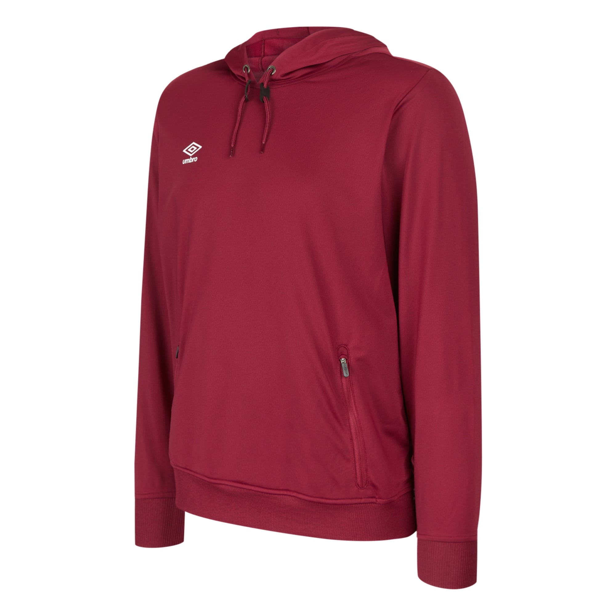 Umbro Club Essential Poly Hood - New Claret