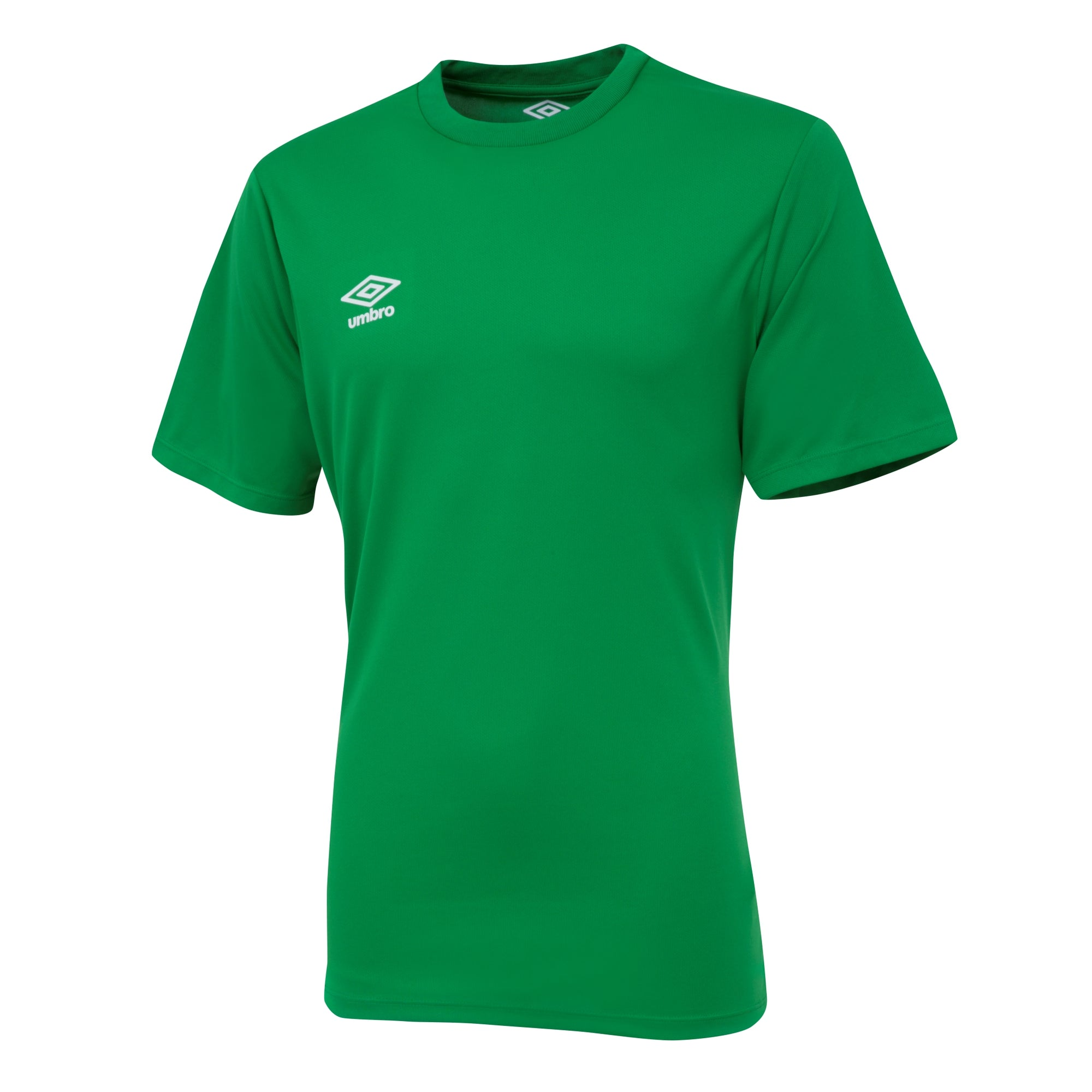 Umbro short sleeve club jersey in emerald with white printed Umbro logo