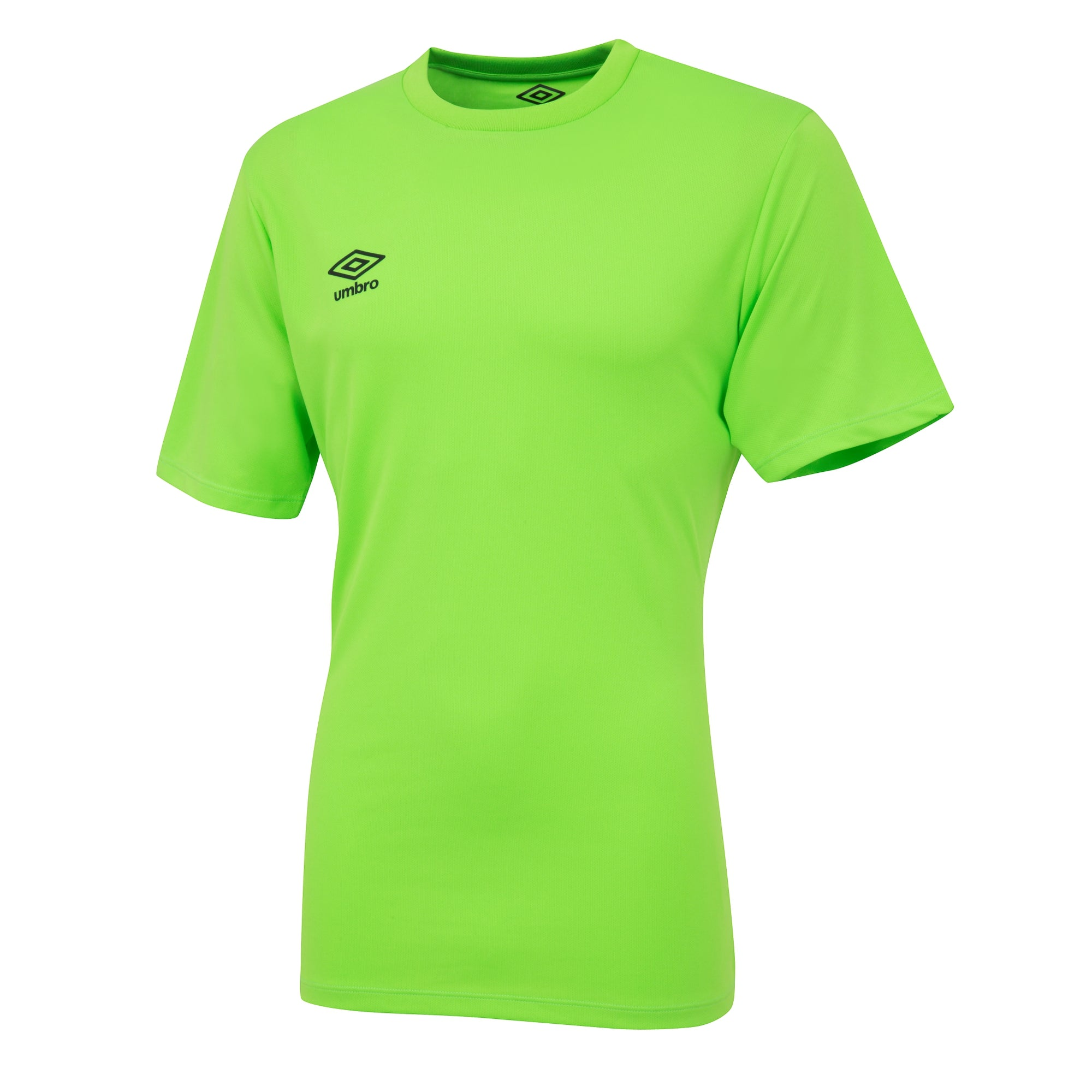 Umbro short sleeve club jersey in gecko green with black printed Umbro logo