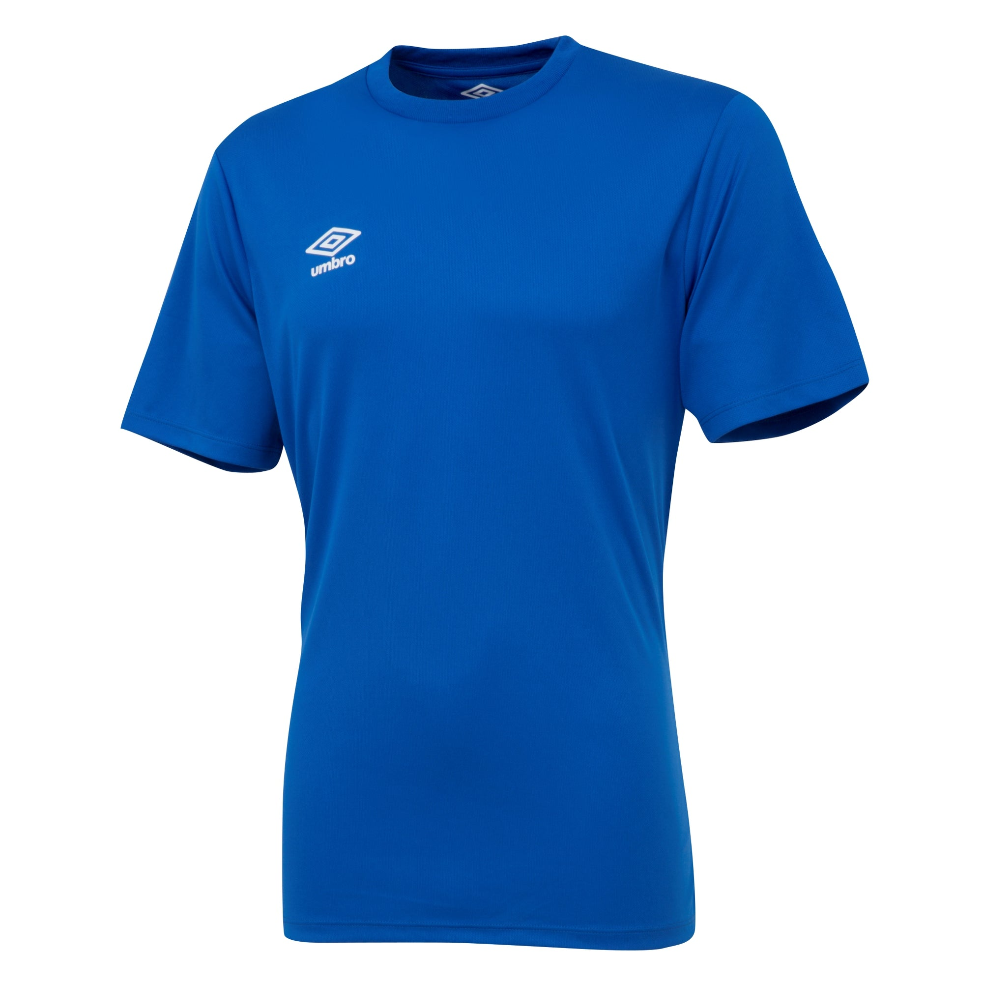 Umbro short sleeve club jersey in royal blue with white printed Umbro logo
