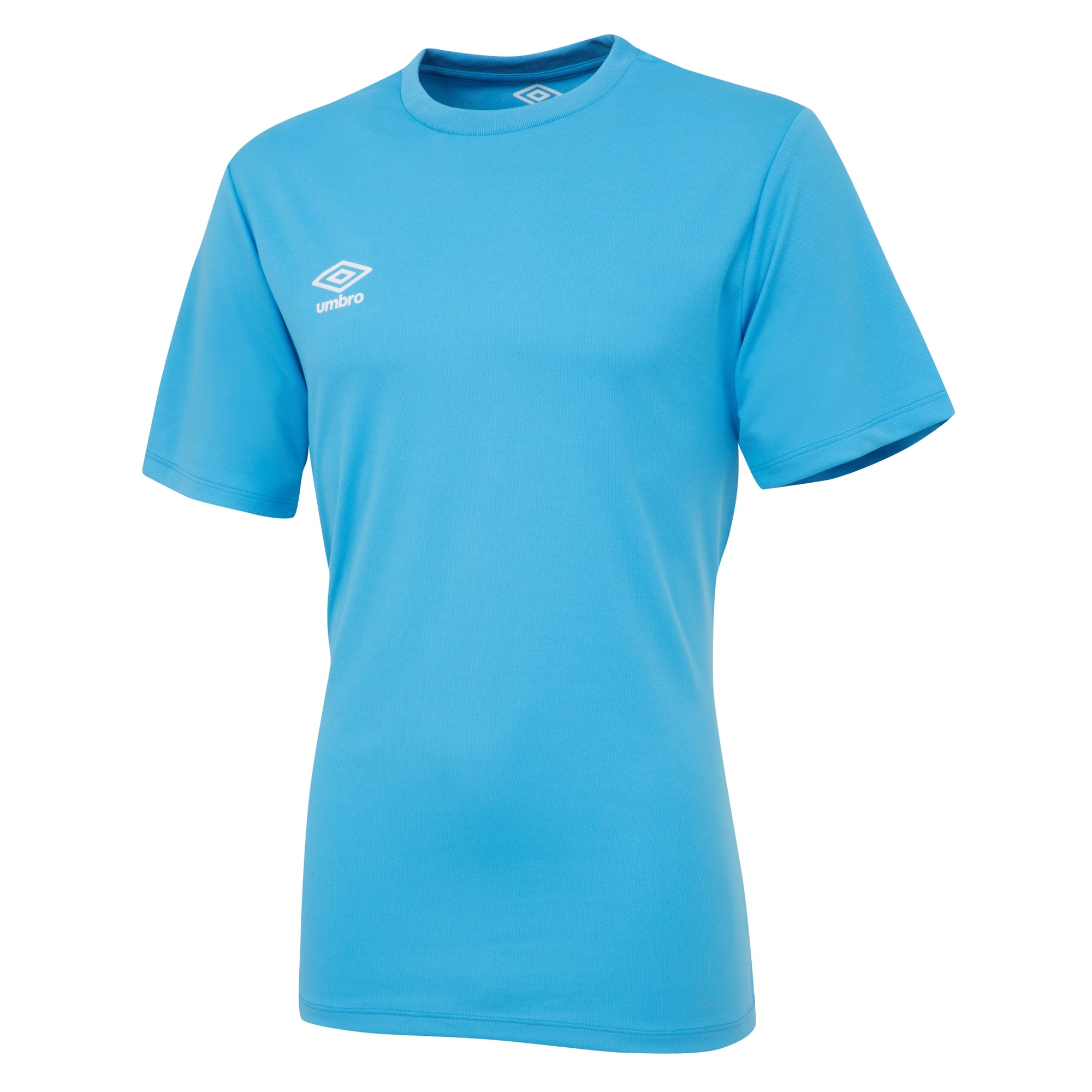Umbro short sleeve club jersey in sky blue with white printed Umbro logo