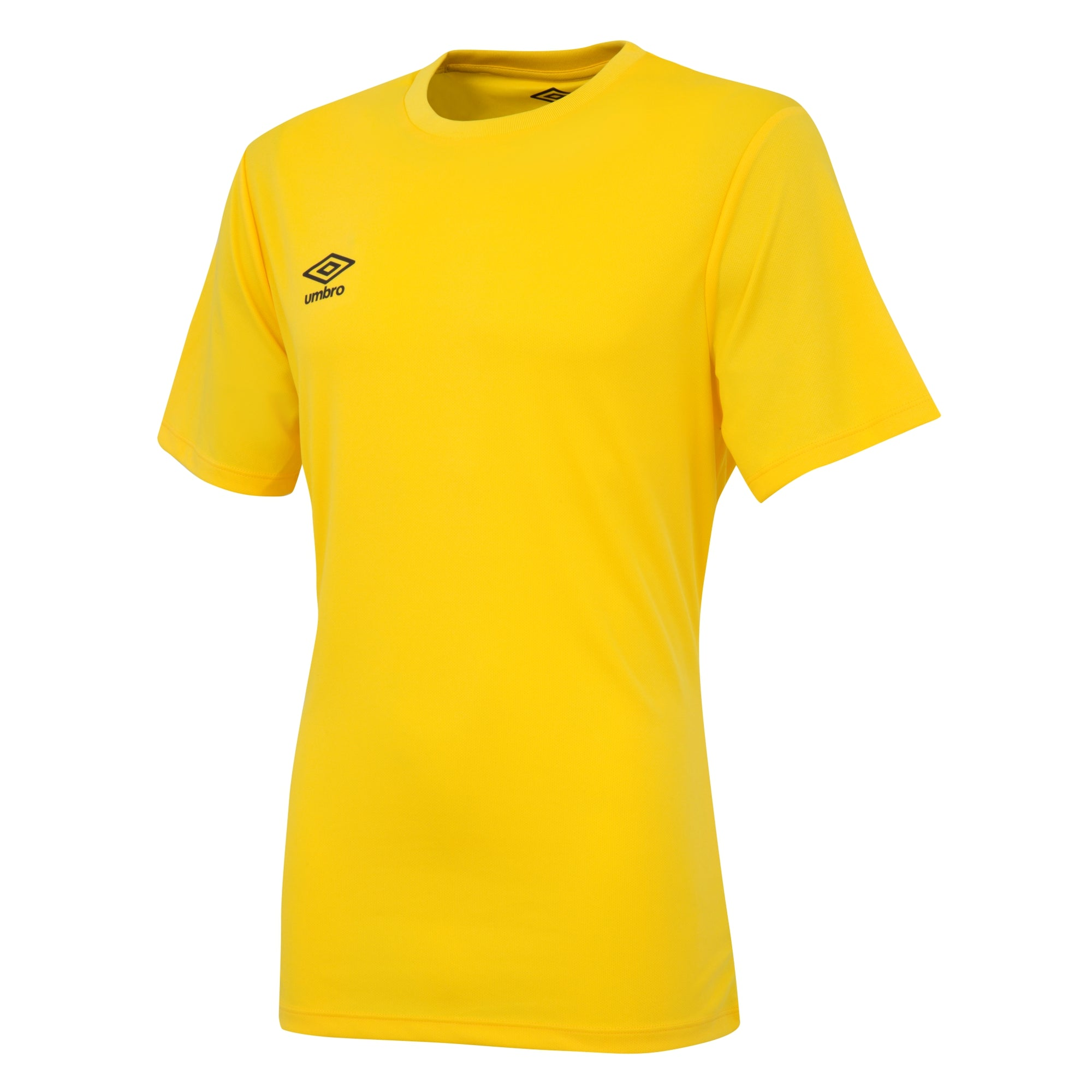 Umbro short sleeve club jersey in yellow with black printed Umbro logo