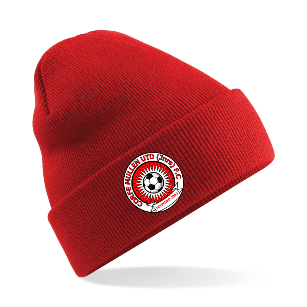 Corfe Mullen Utd Juniors FC Cuffed Beanie - Red