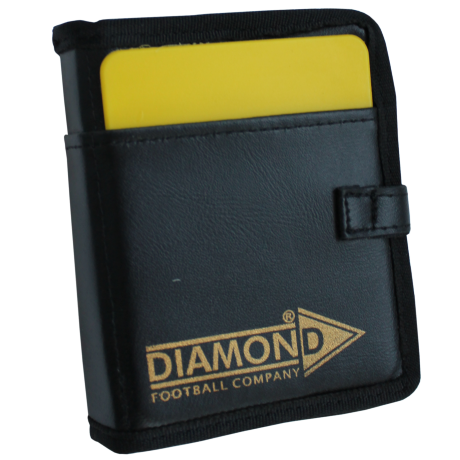 Diamond Deluxe Referee Wallet yellow card showing