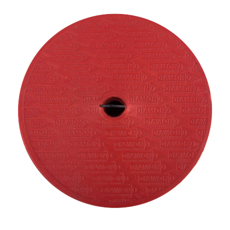 Round Diamond Flat Marker in red