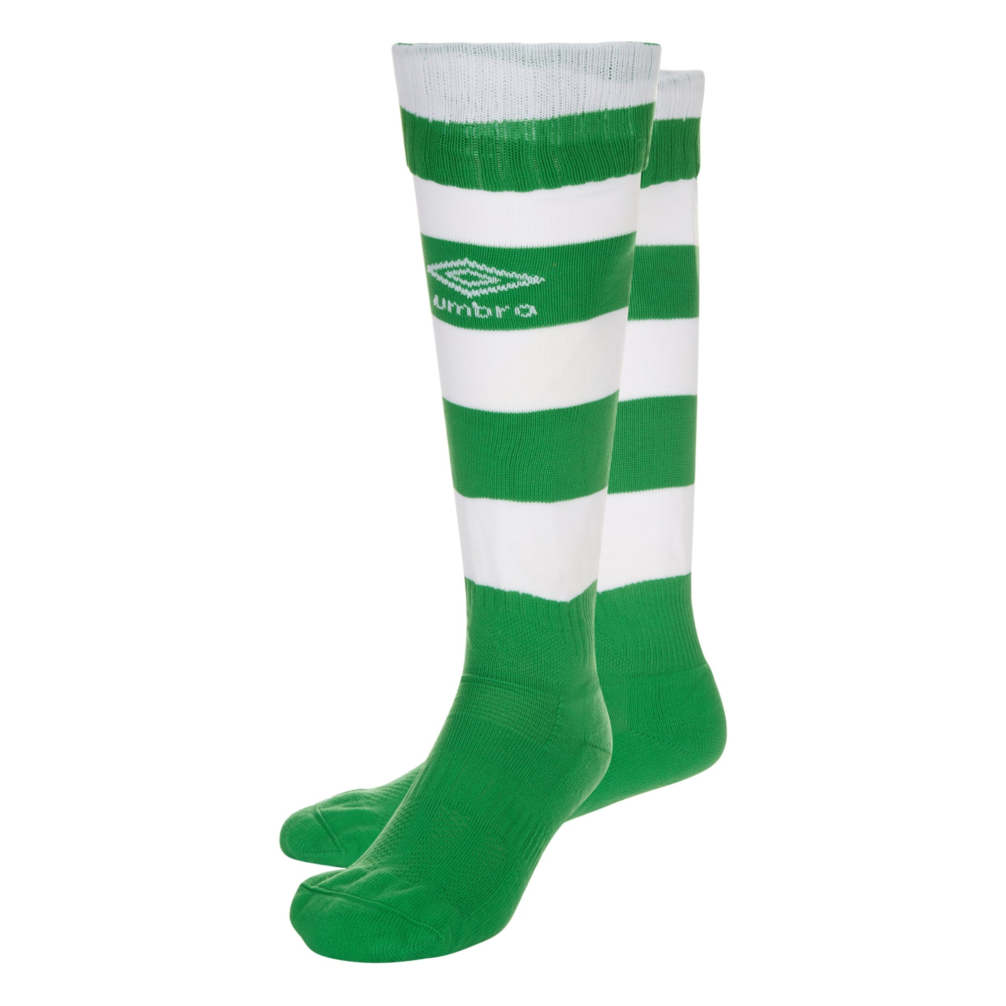 Umbro Hoop Sock - Emerald/White
