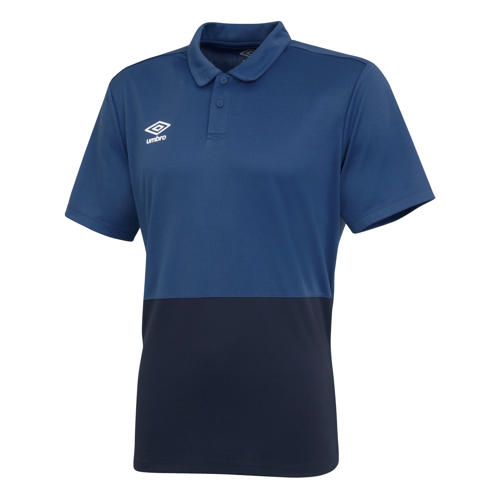 Umbro Poly Polo - Navy/Dark Navy/White
