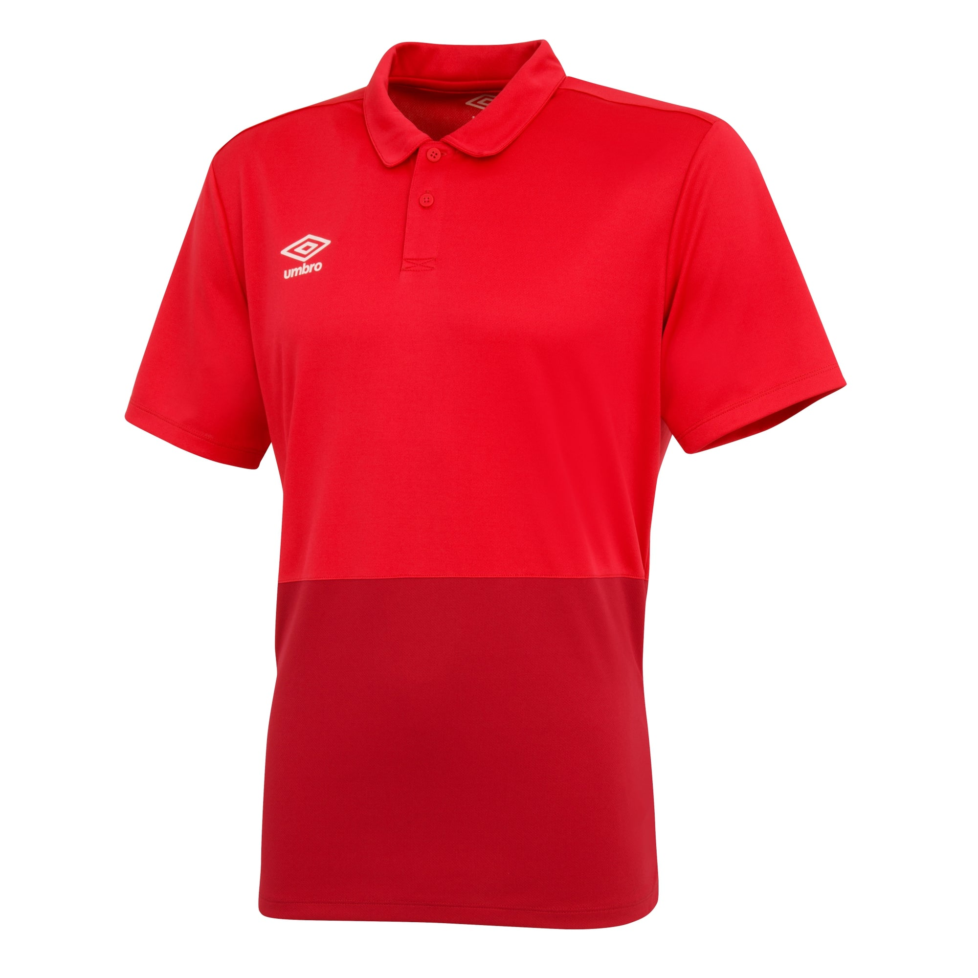 Umbro Poly Polo - Vermillion/Jester Red/White