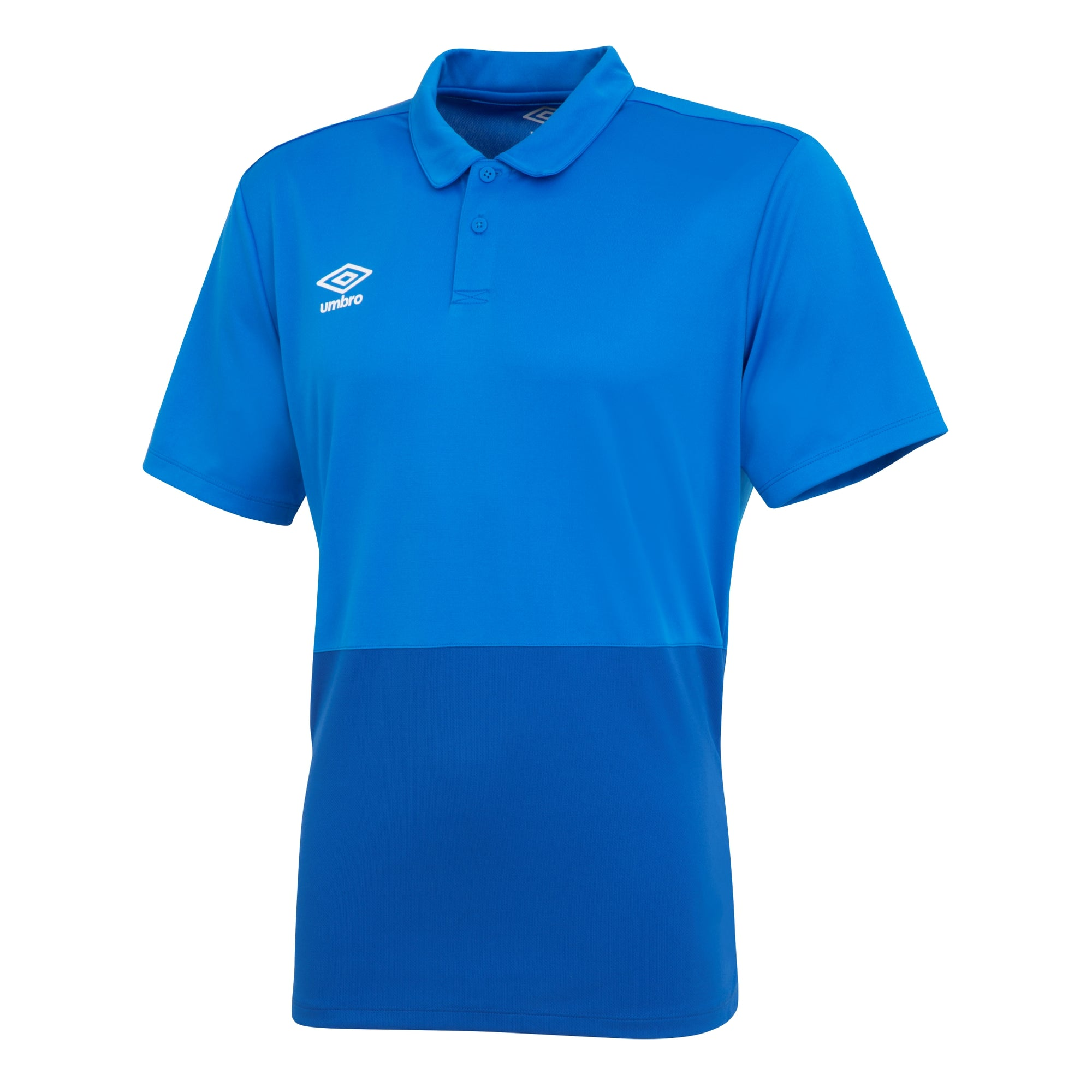 Umbro Poly Polo - Royal/French Blue/White