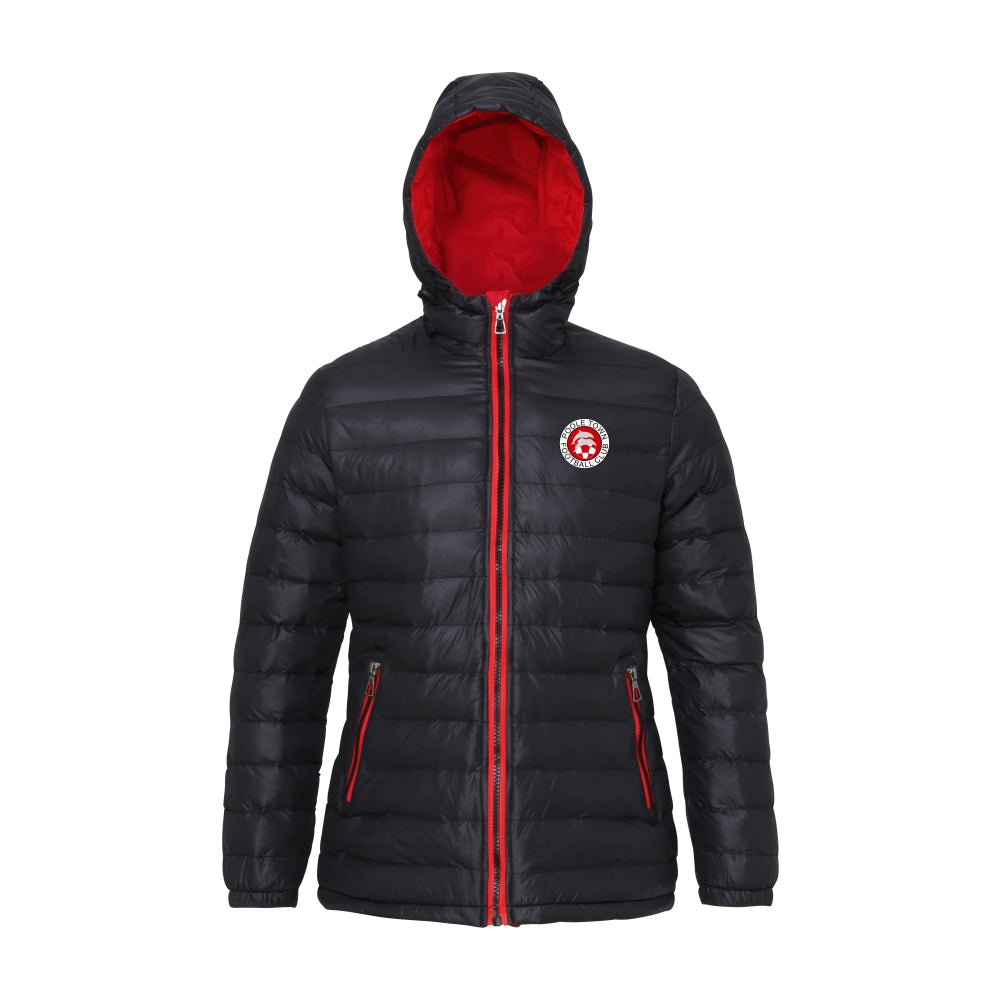 Poole Town FC Padded Jacket - Ladies