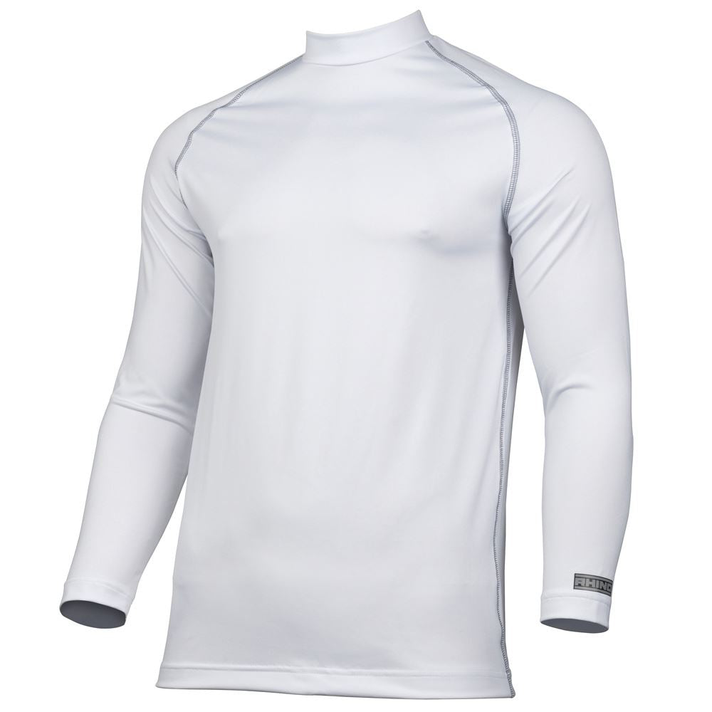 Rhino long sleeve base layer in white