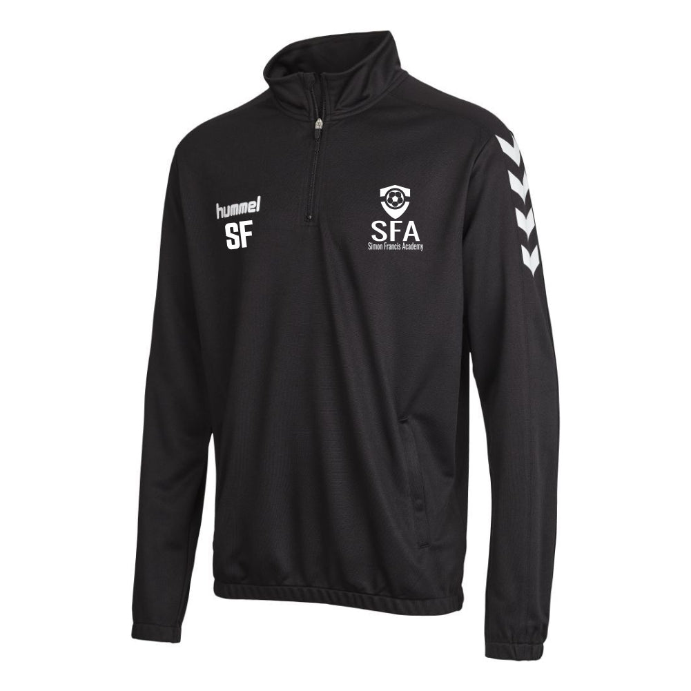 Simon Francis Academy - Hummel Core 1/2 Zip Sweat - Black